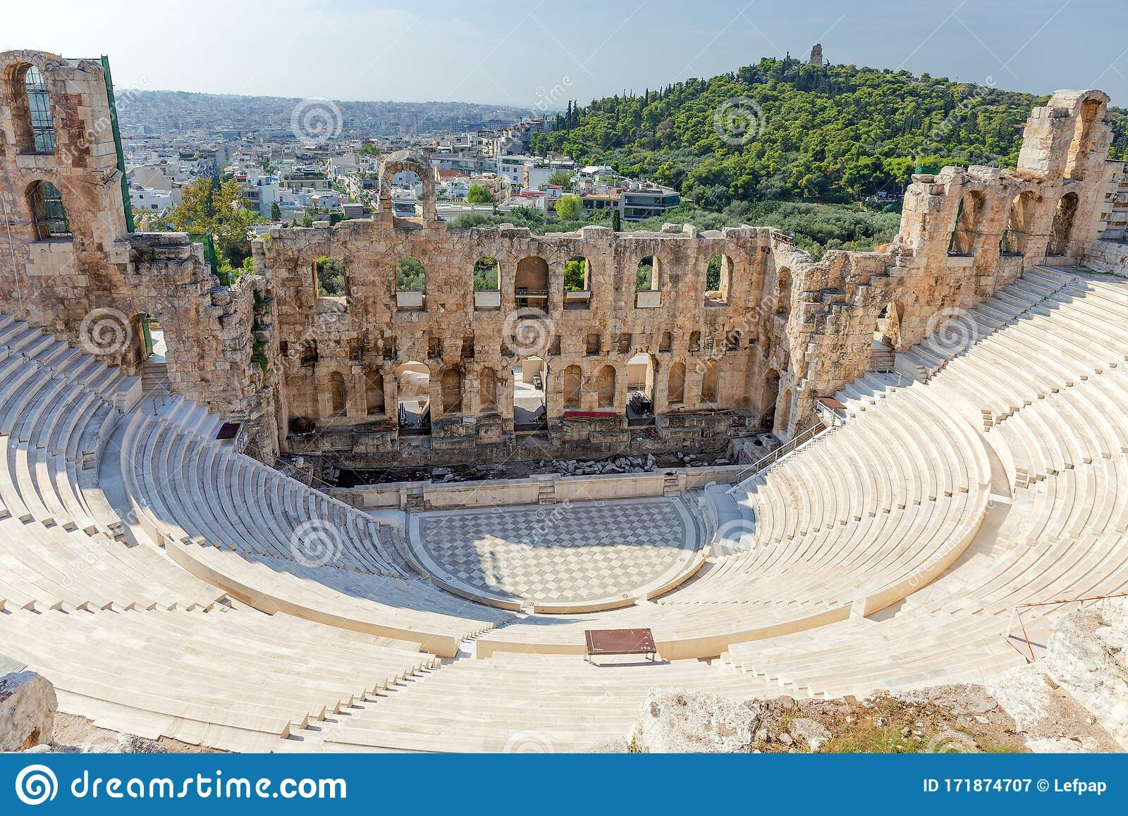 The Odeon Of Herodes Atticus Athens Greece Stock Image Image Of Archeology Herodes 171874707