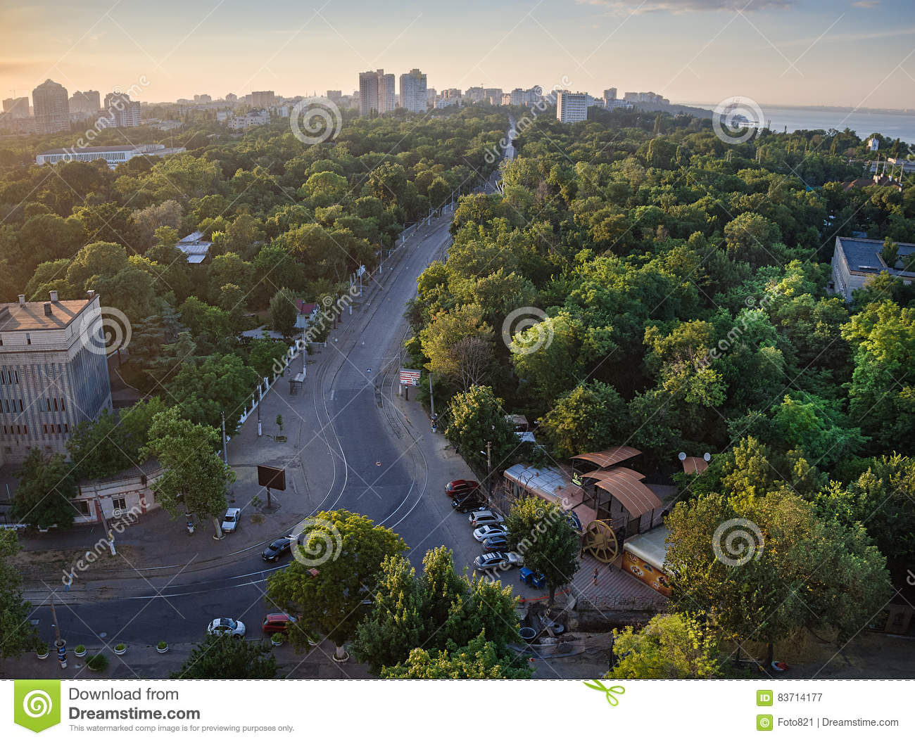 Odessa French Boulevard Editorial Photography