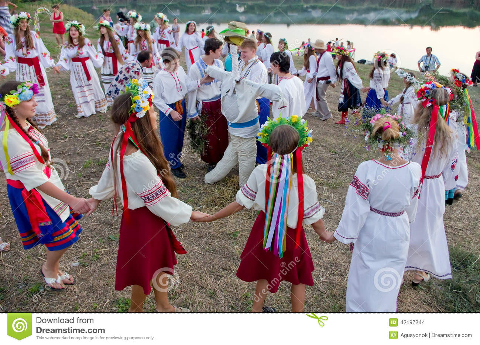 Odessa region, village Vizirka, Ukraine - 6 July 2013: holiday Ivana Kupala Night