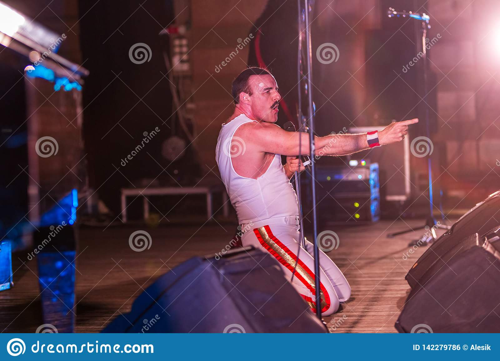 ODESSA, UKRAINE - MARCH 16, 2019: Rock Concert Queen Tribute
