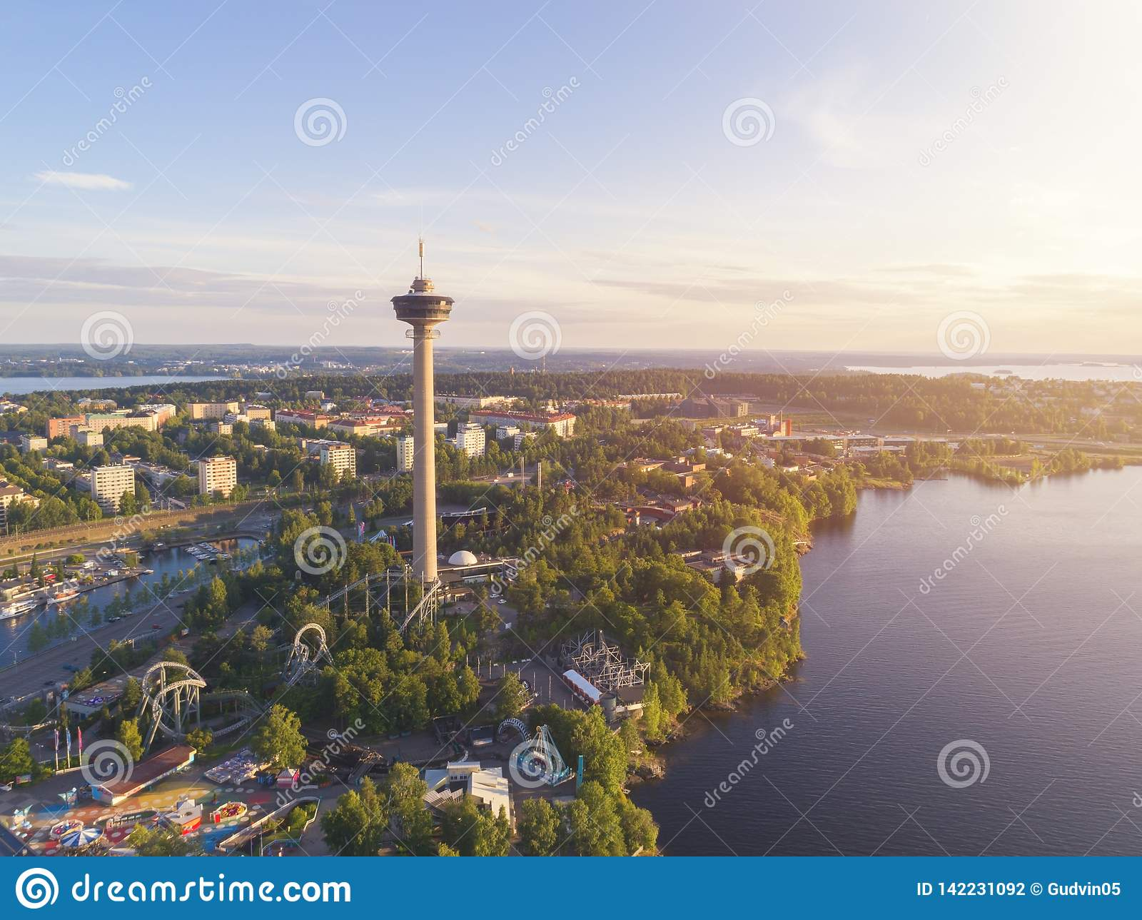Odgórny widok Tampere miasto