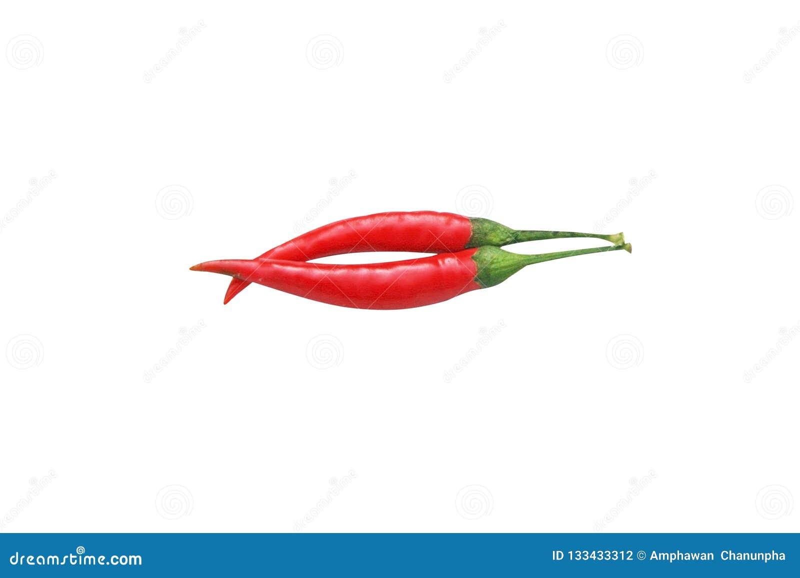 Odgórnego widoku dwa czerwonego chili pieprz