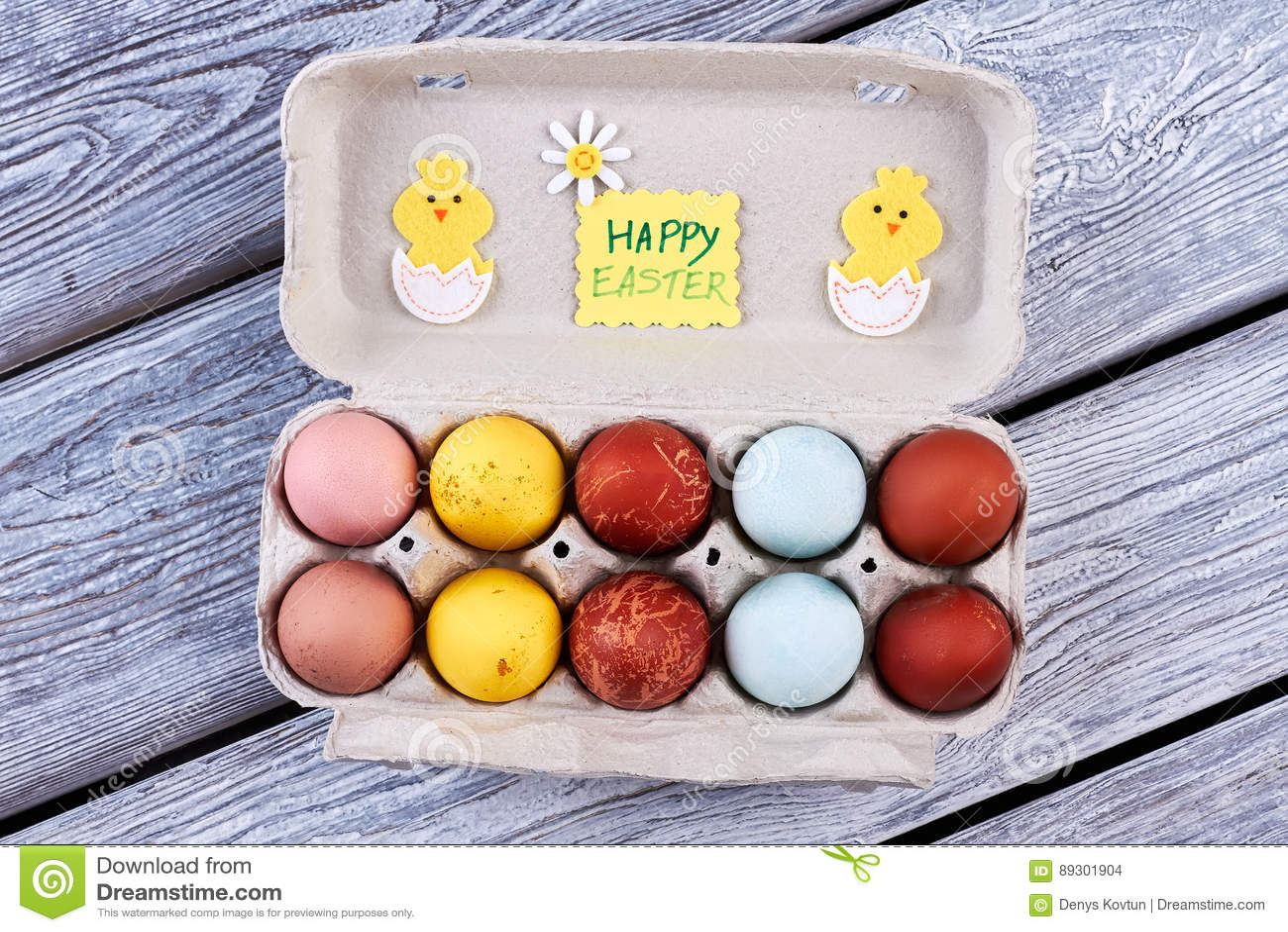 Odgórny widok Easter jajka