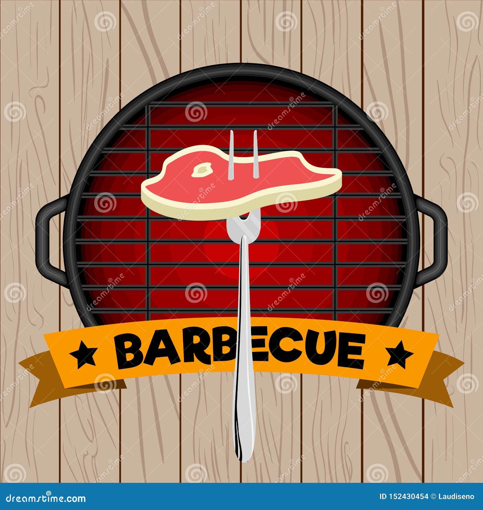 Odg?rny widok grilla grill
