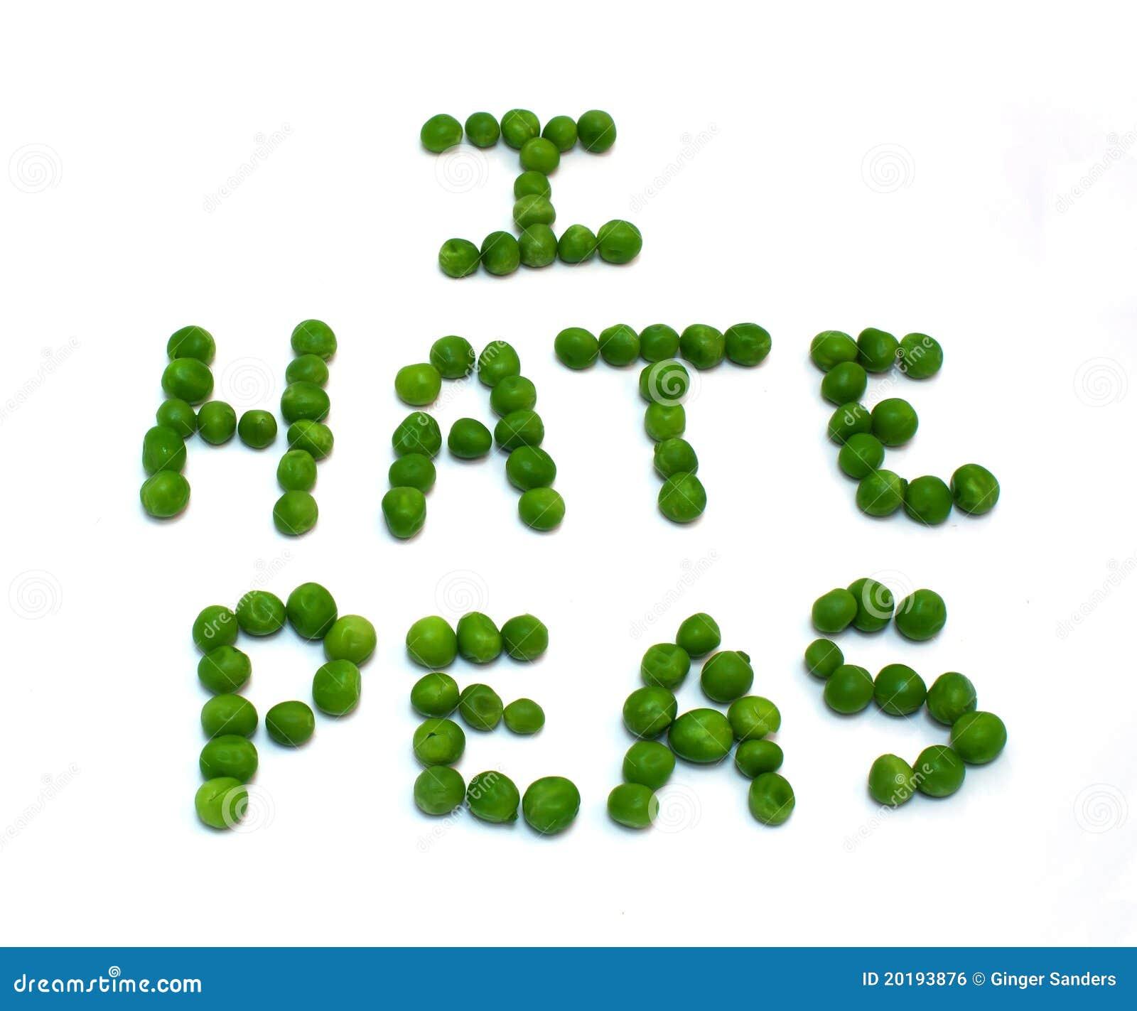Odio los guisantes