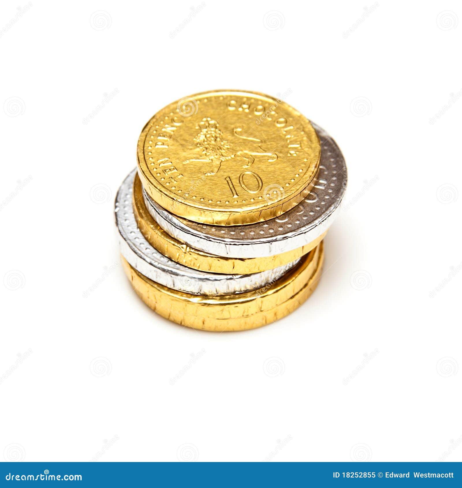 Odizolowywać czekoladowe monety