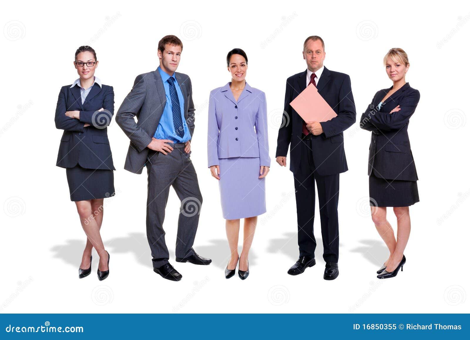 Odizolowywający ludzie biznes drużyn pięć