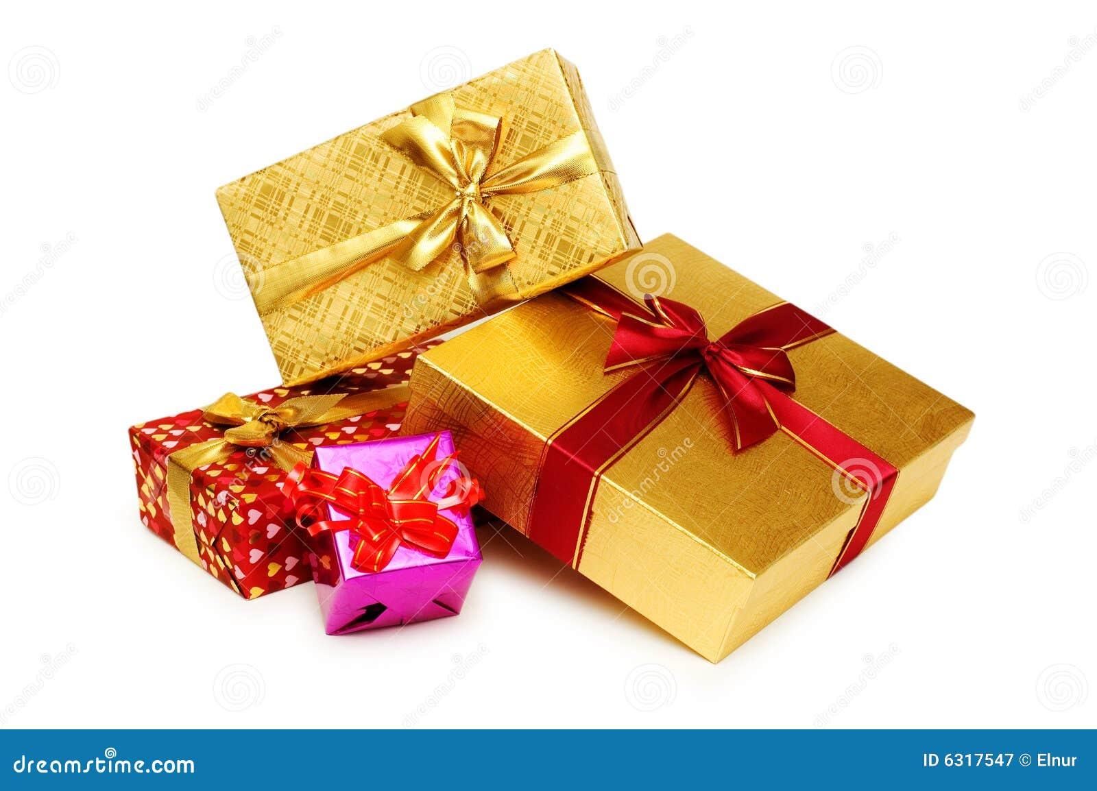 Odizolowywający prezentów pudełka