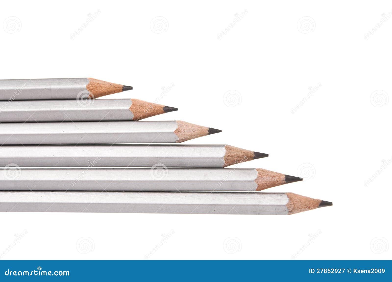Odizolowywający szary prosty ołówek