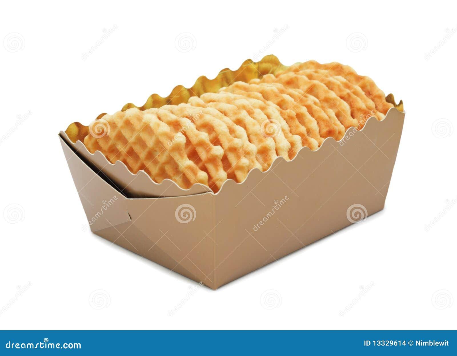 Odizolowywający zbliżeń pudełkowaci ciastka