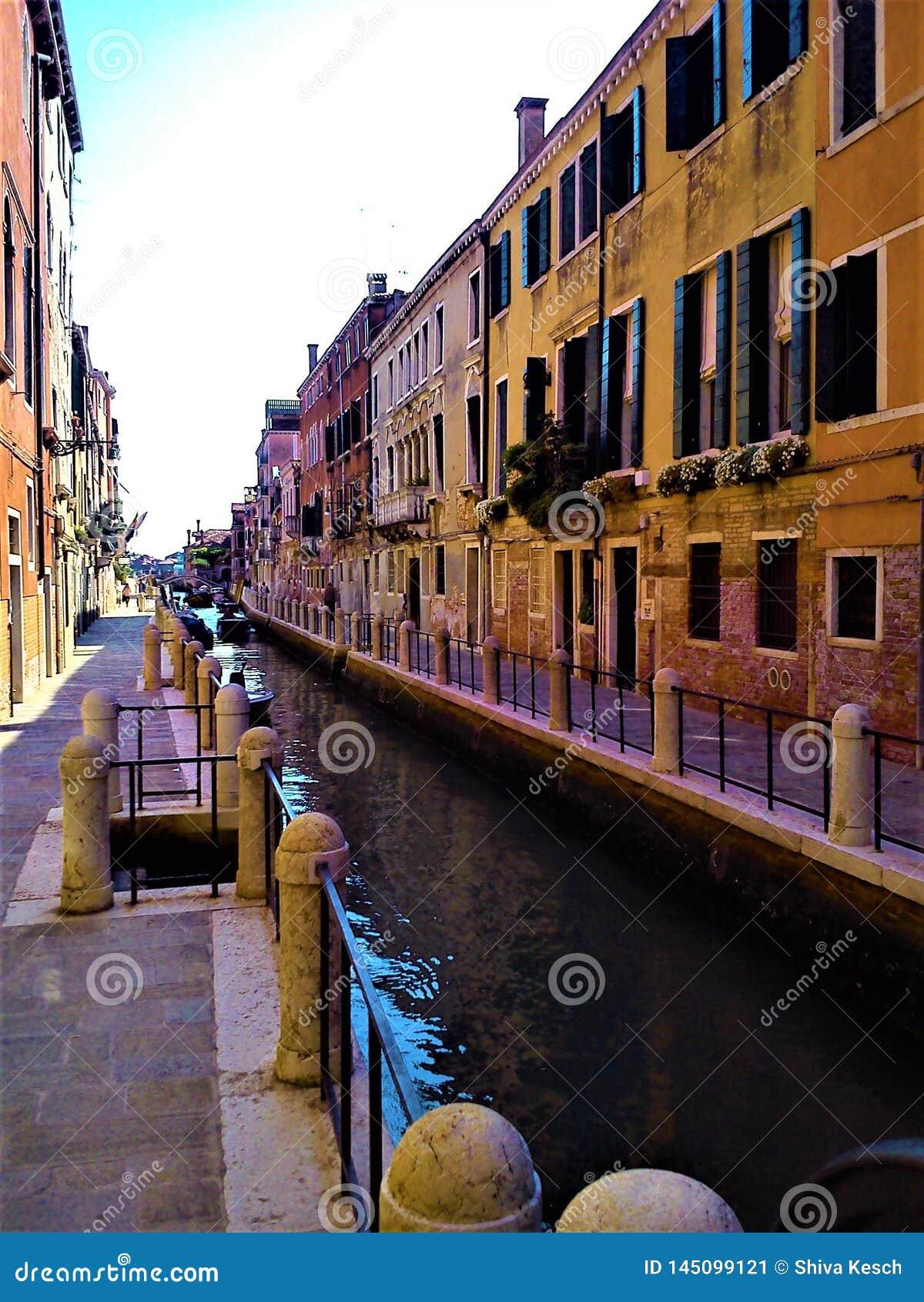 Odkrywa Wenecja miasto, Włochy Facsynacja, jedyność i magia,