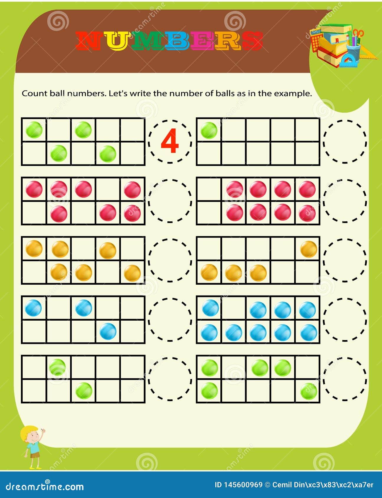 Odliczaj?ca gra dla Preschool dzieci Edukacyjny matematycznie gra Liczy rzeczy w obrazku i wybiera w?a?ciw? odpowied?