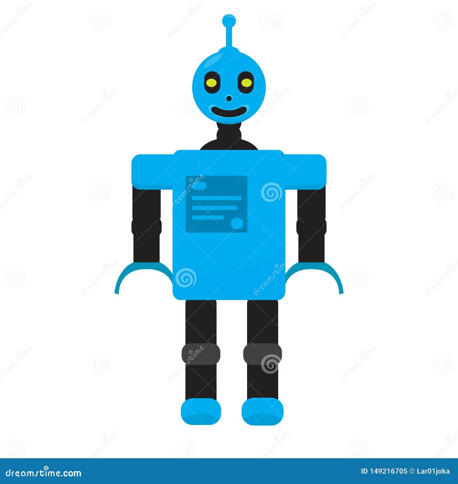 Odosobniona robot zabawka - wektor