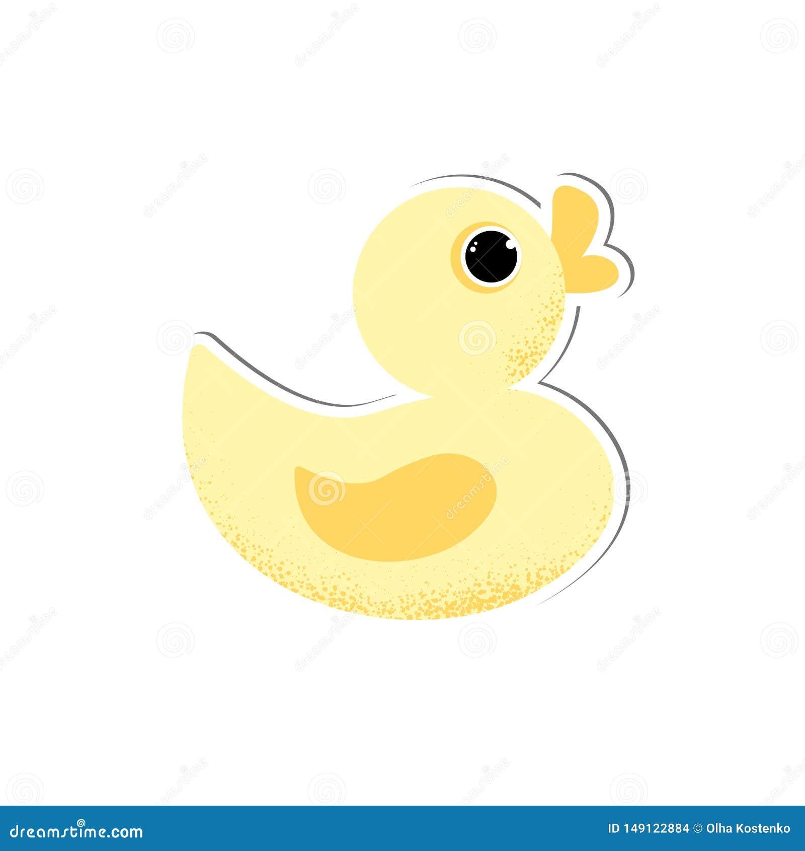 Odosobnionego ślicznego dziecka kaczki gumowy wektor