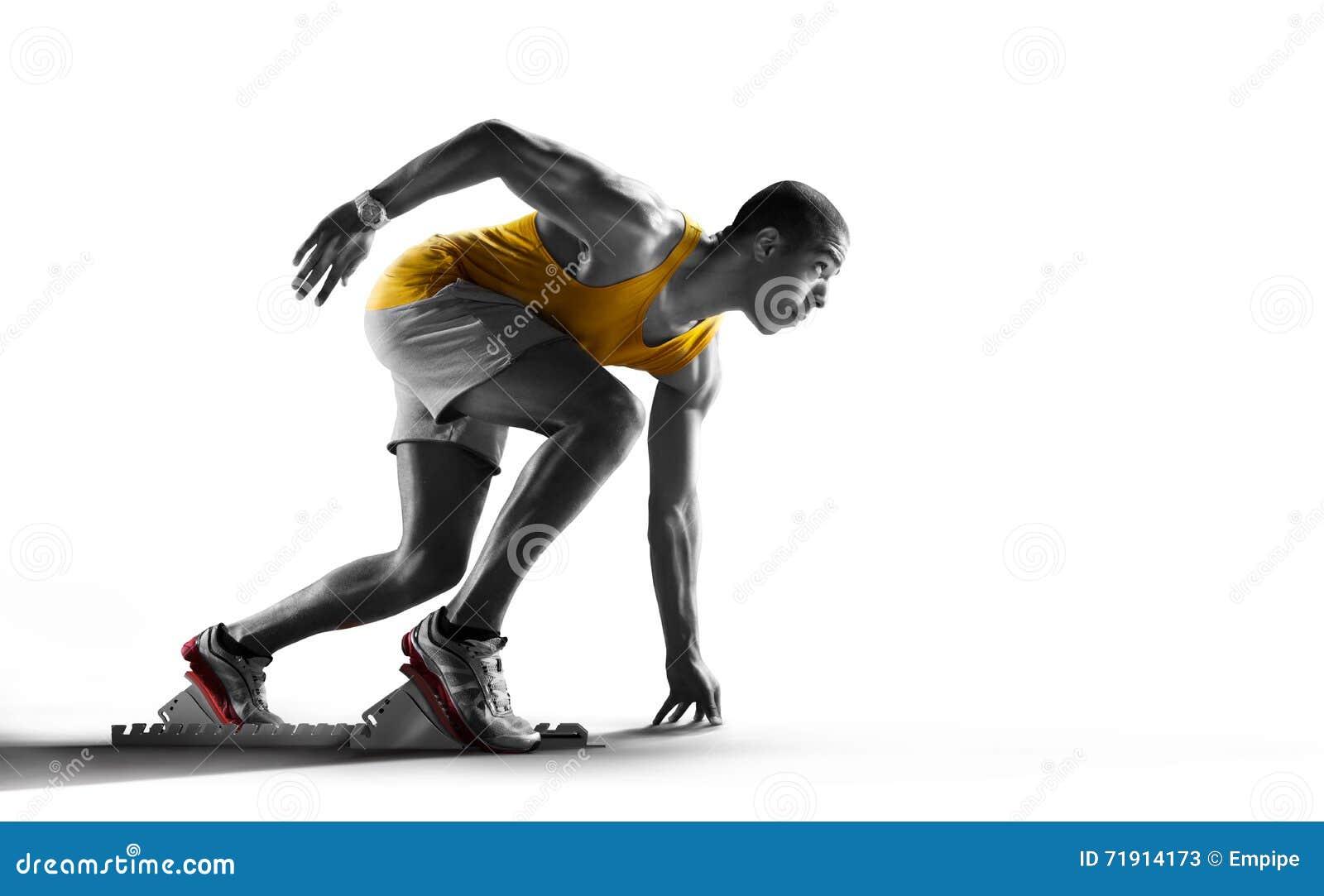 Odosobniony atleta biegacz