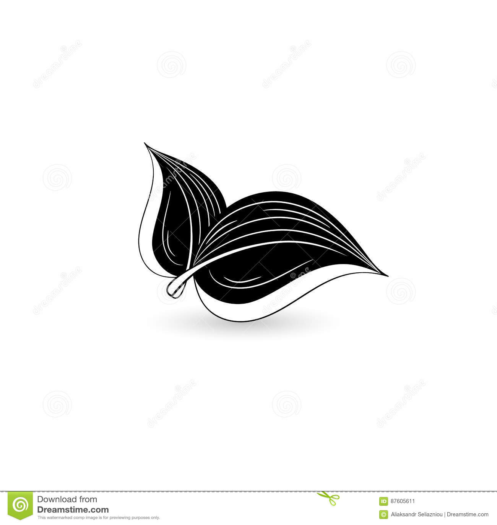Odosobniony czarny liść