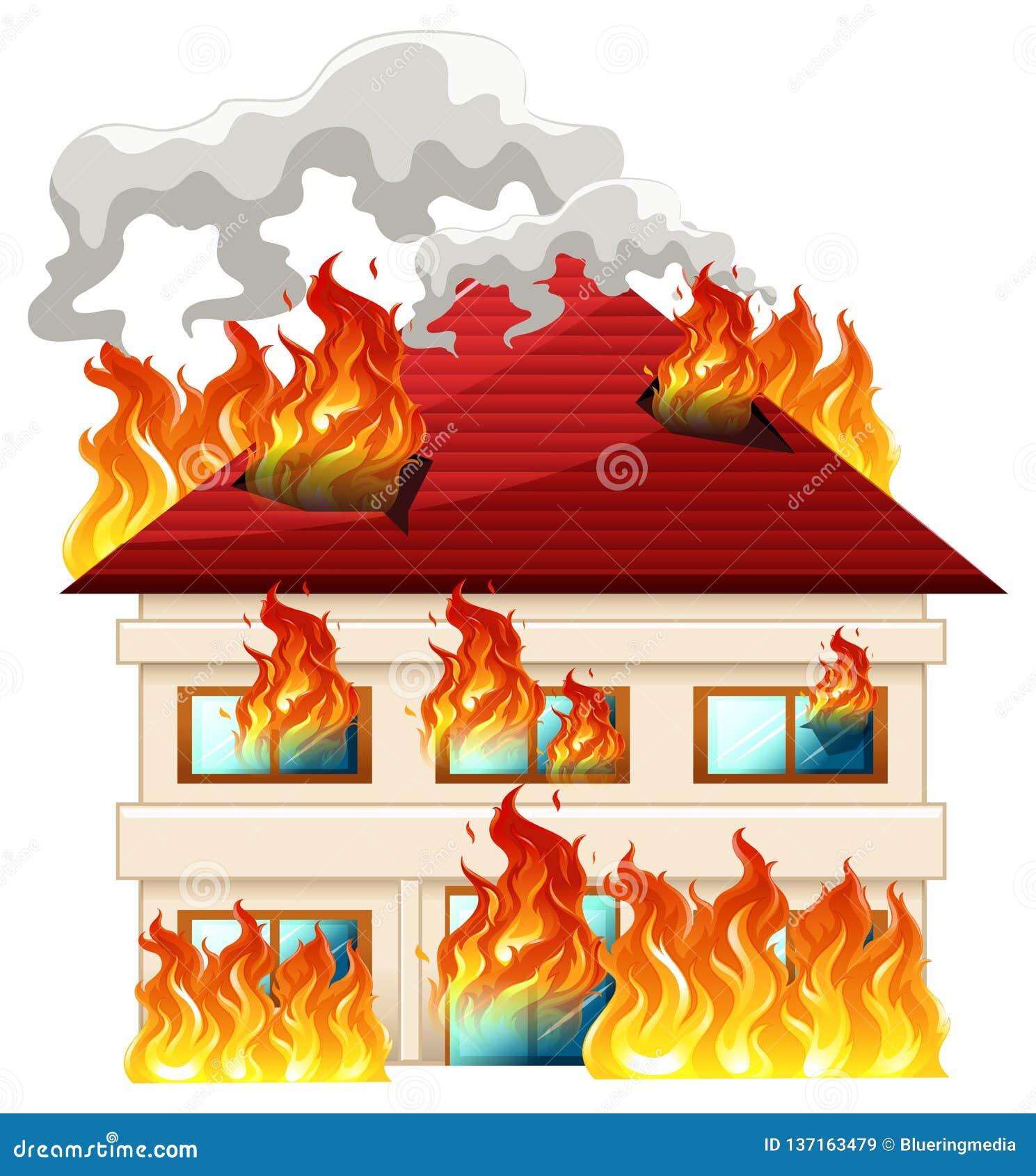 Odosobniony dom na ogieniu