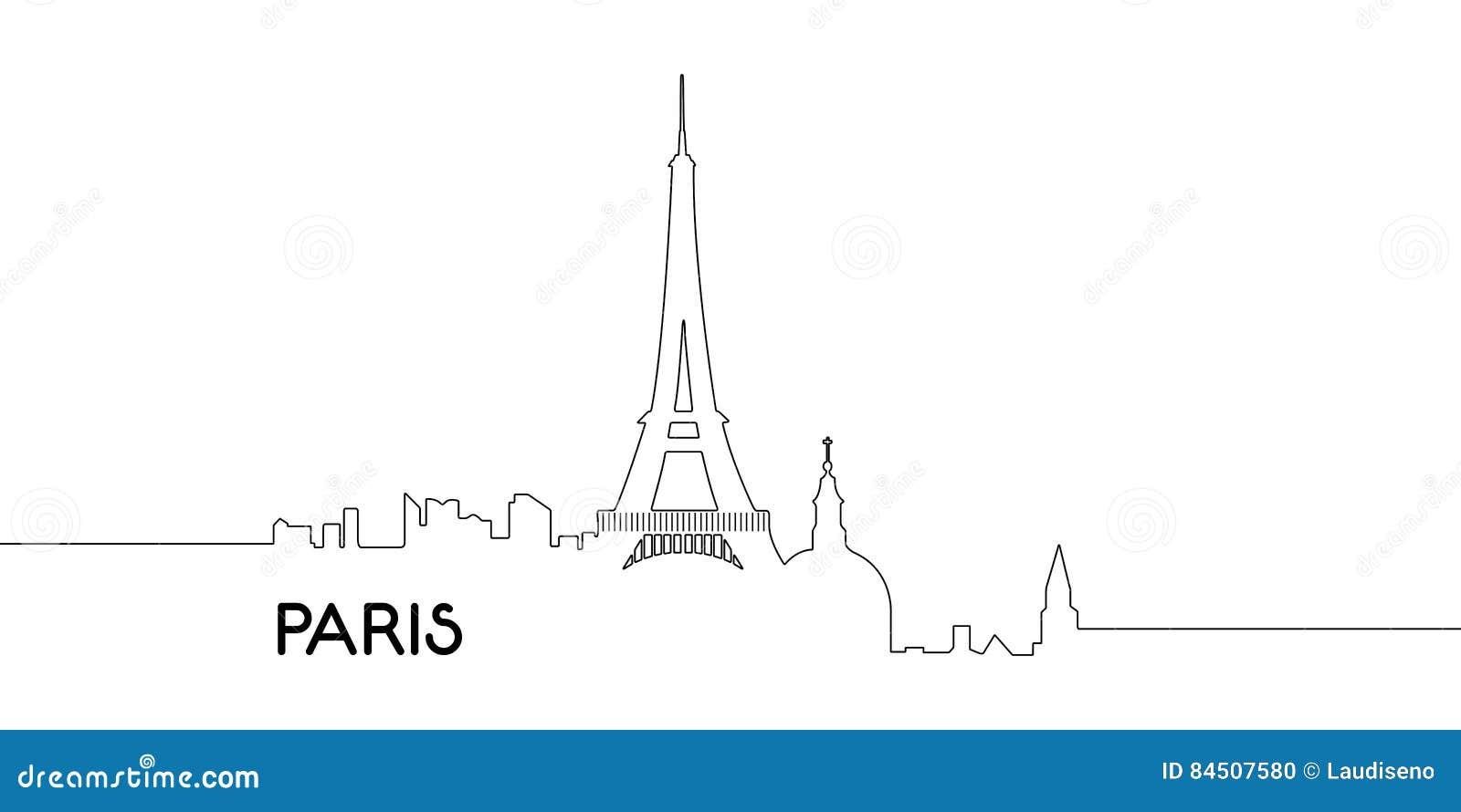 Odosobniony kontur Paryż