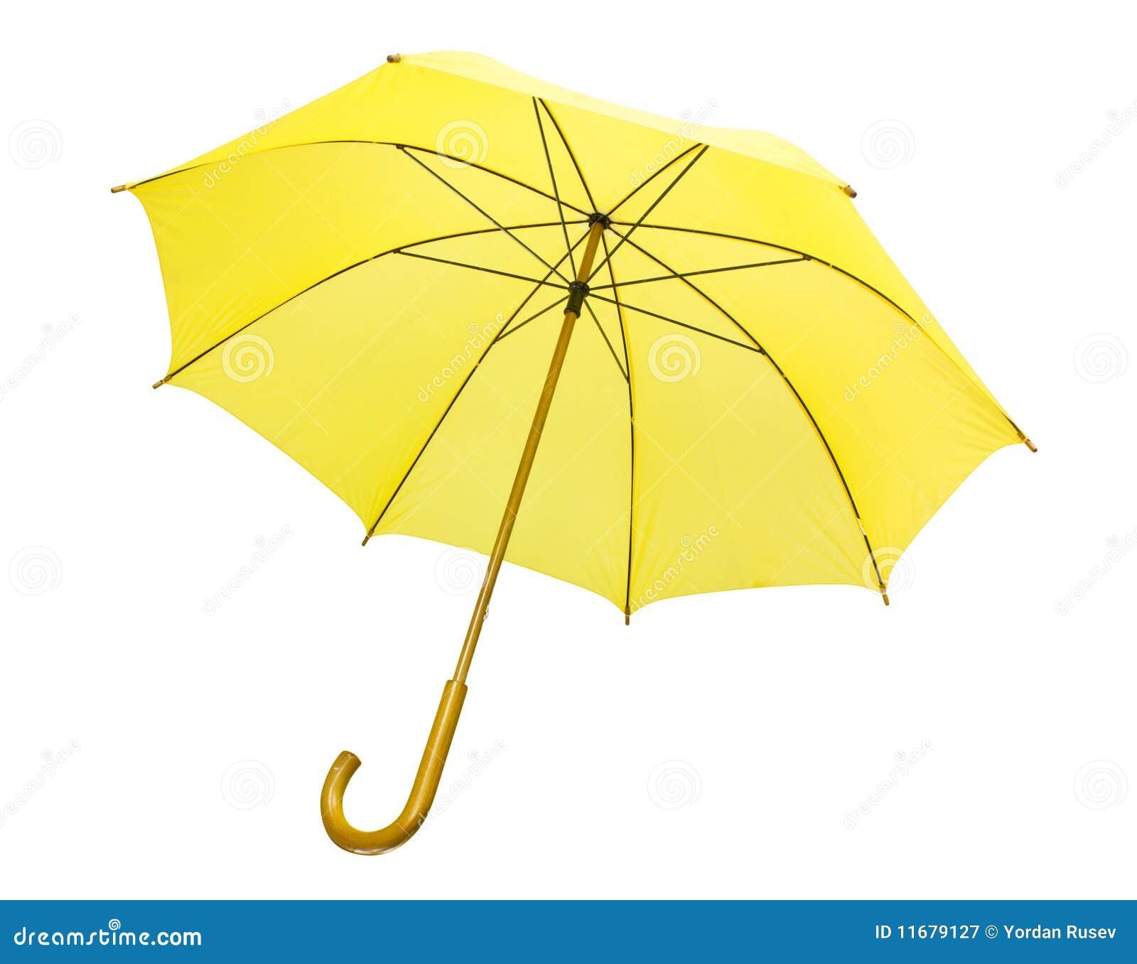 Odosobniony parasolowy kolor żółty