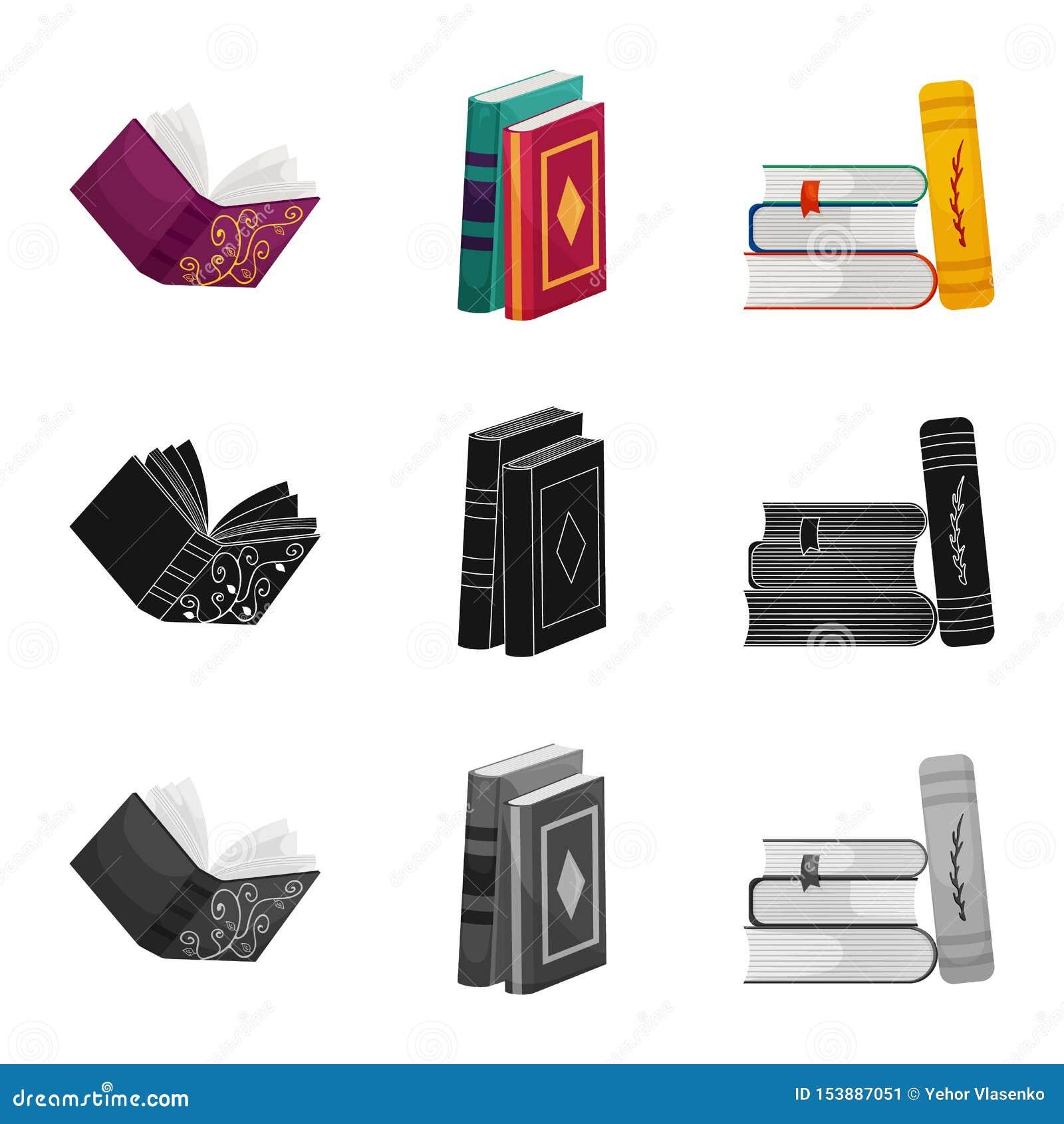 Odosobniony przedmiot szkolenia i pokrywy symbol Kolekcja szkolenie i bookstore akcyjna wektorowa ilustracja