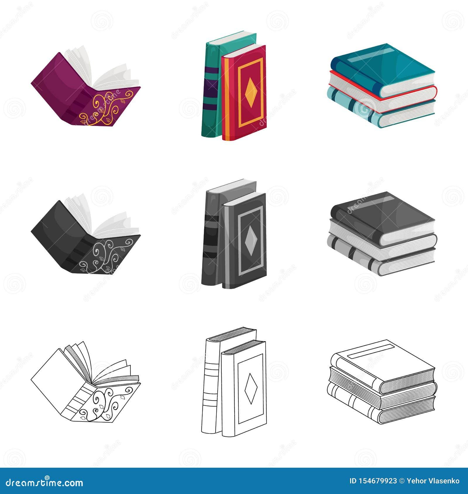 Odosobniony przedmiot szkolenia i pokrywy znak Set szkolenie i bookstore akcyjna wektorowa ilustracja