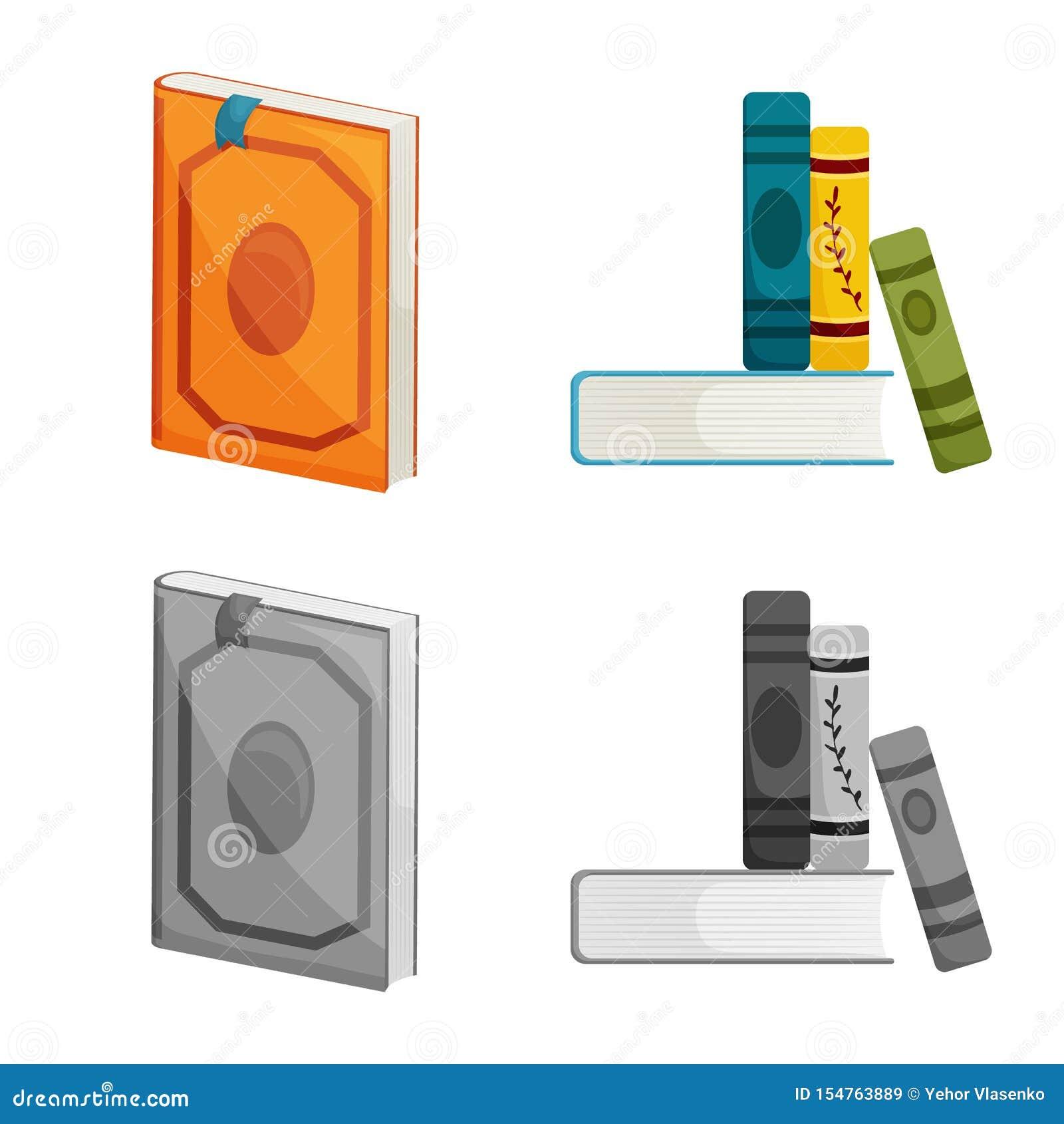 Odosobniony przedmiot szkolenia i pokrywy znak Set szkolenie i bookstore akcyjny symbol dla sieci