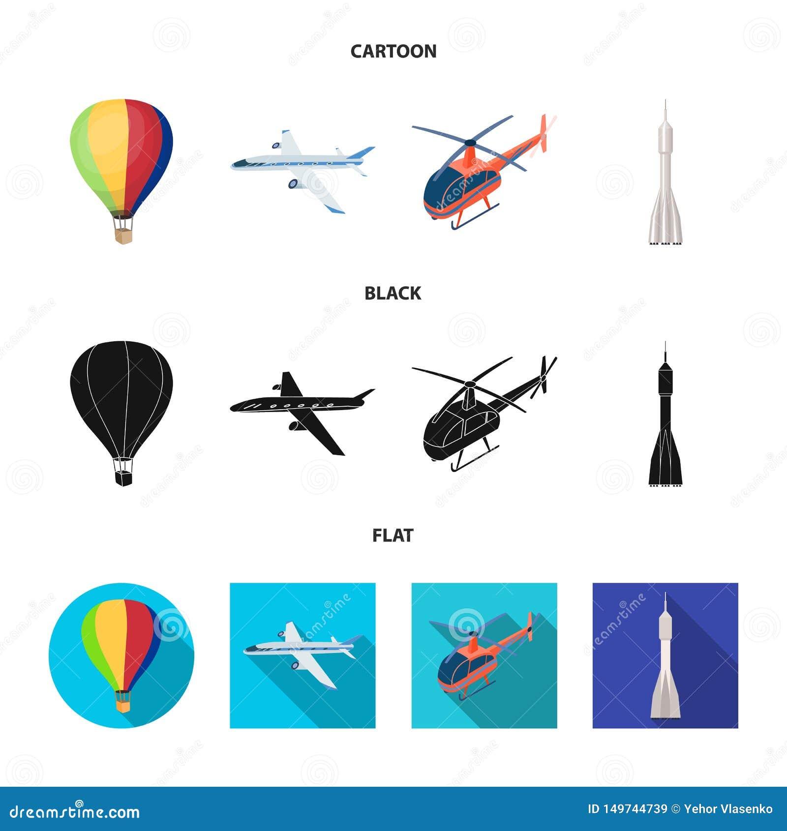 Odosobniony przedmiot transportu i przedmiota symbol Kolekcja transport i szybownictwo akcyjna wektorowa ilustracja