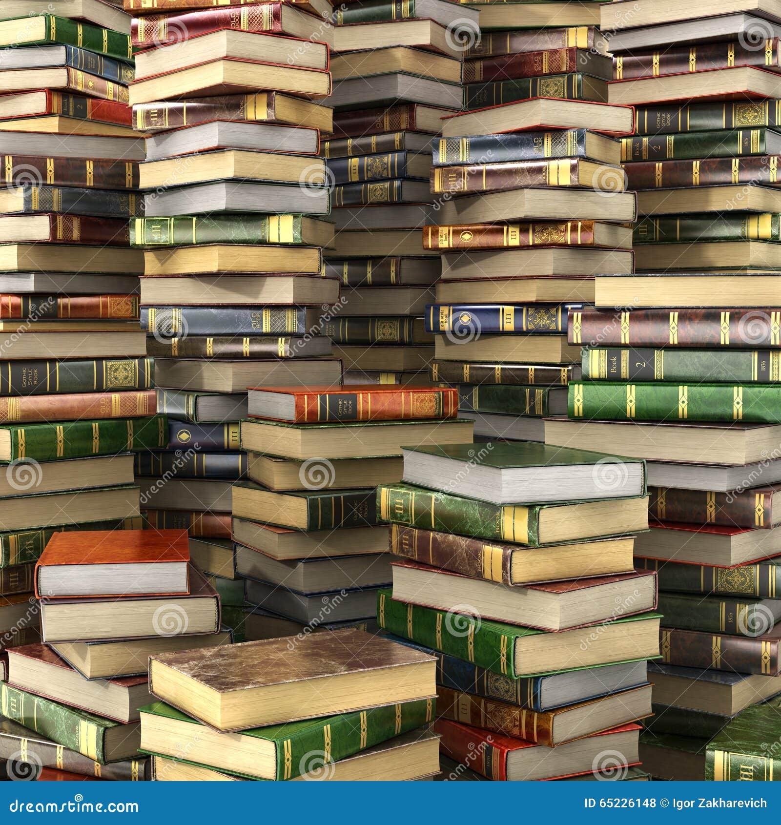 Odpłaca się duży stos kolorowe książki na pełnym ekranie