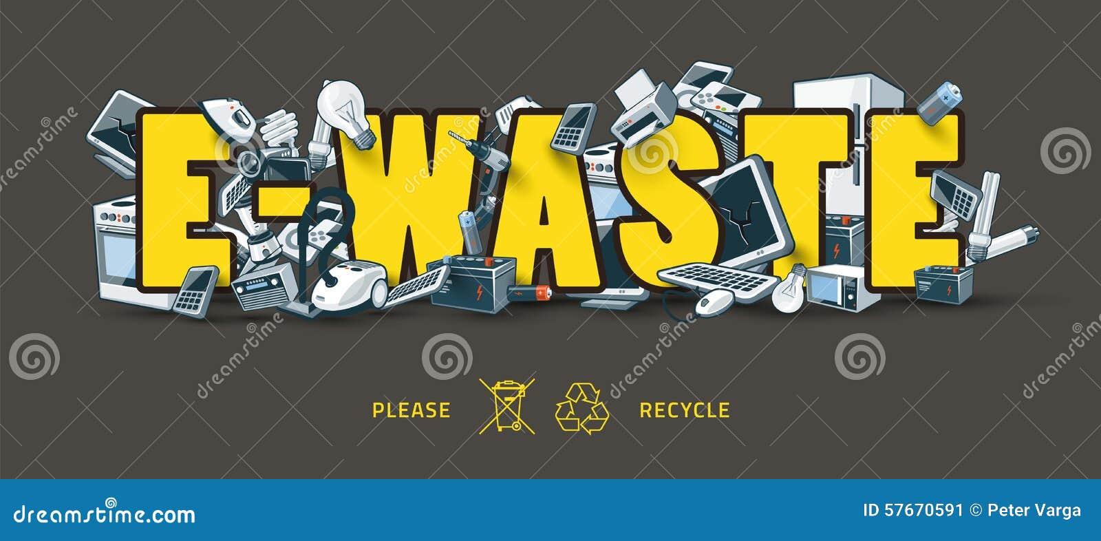 Odpady znak z urządzeniami elektronicznymi
