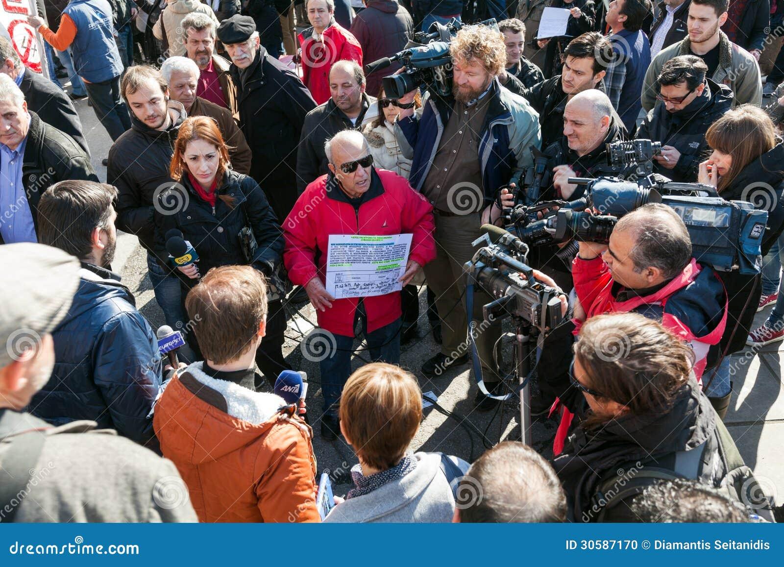 Odprawiający funkcjonariusza państwowego protest