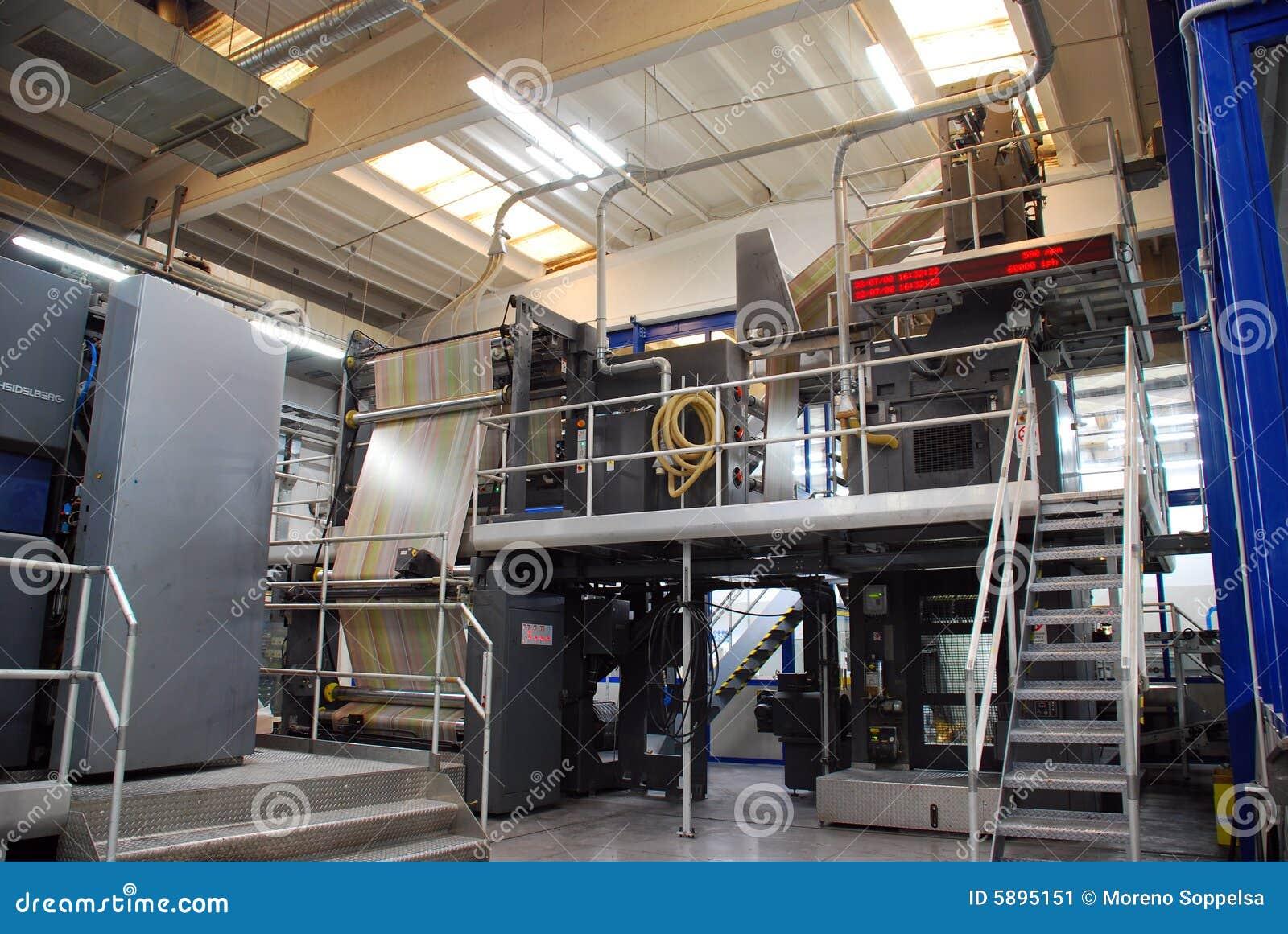 Odsadzki druku prasa
