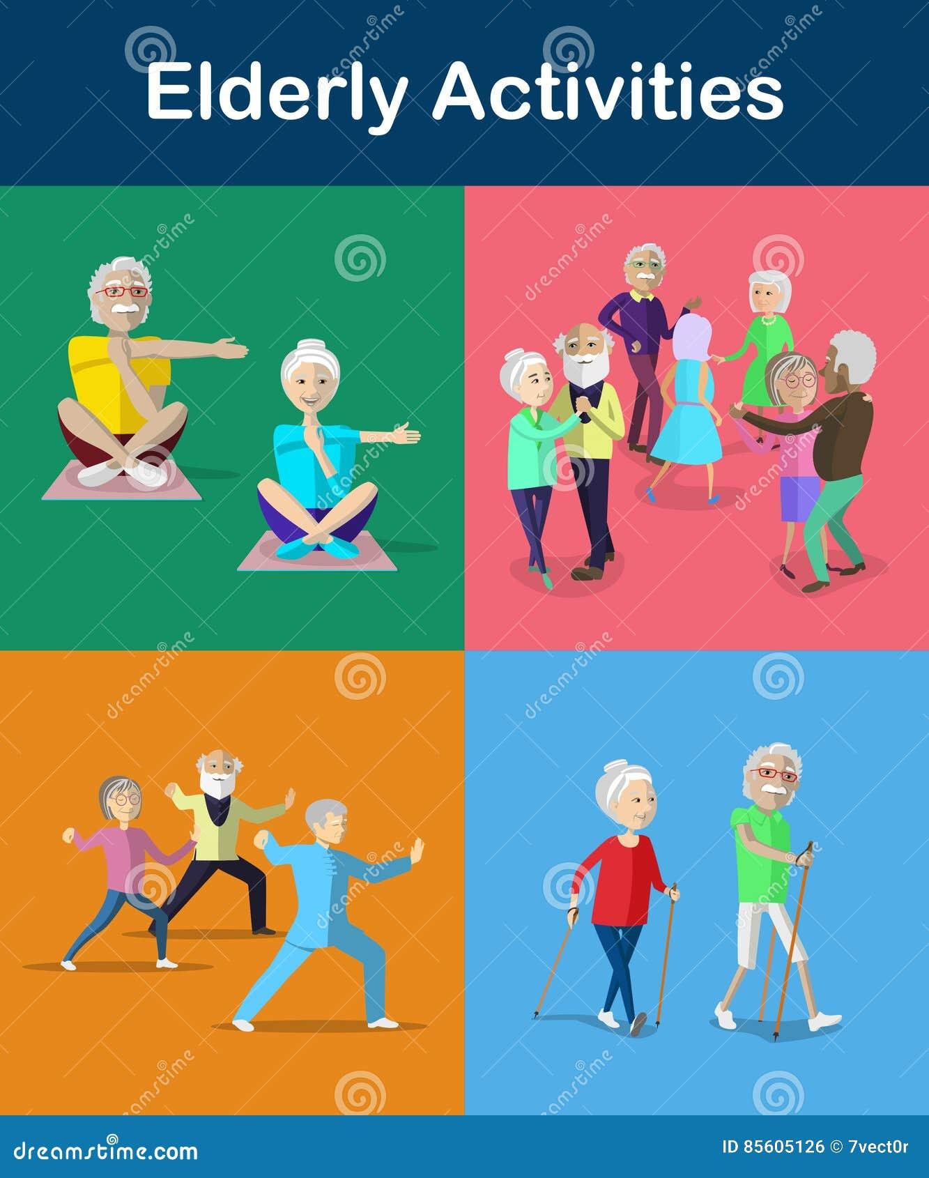 Odtwarzanie i aktywność dla seniora i starzenie się dorosłych Styl życia dla seniora