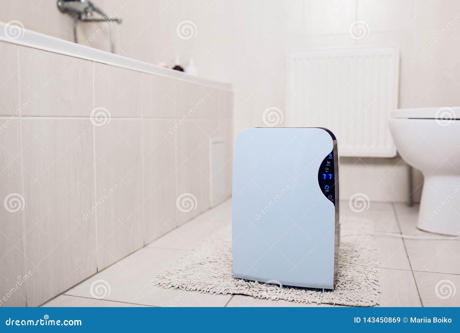 Odwilżacz z dotyka panelem, wilgotność wskaźnik, ultrafioletowa lampa, lotniczy jonizator, wodny zbiornik pracuje w łazience Lotn