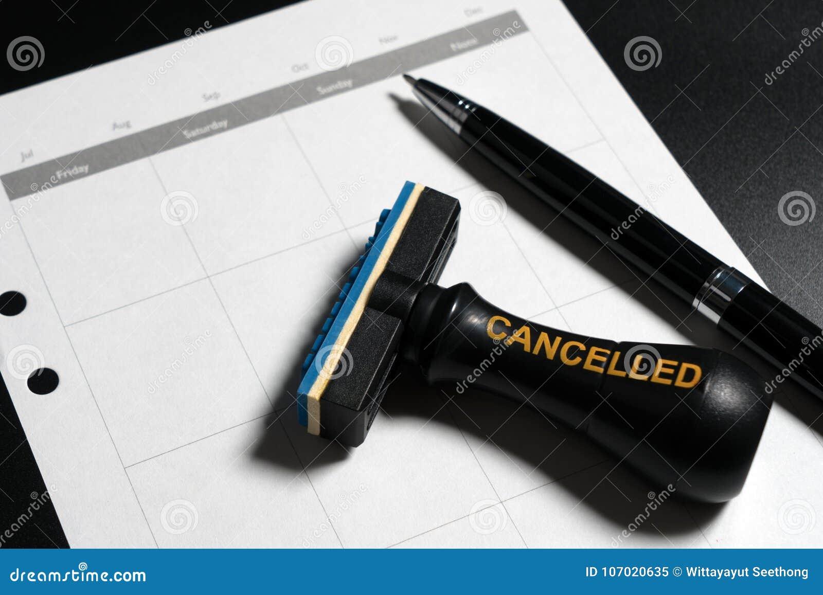Odwoływający planowanie, spotkanie, rozkład, spotkania pojęcie Biznesowy planowanie odwoływający z puste miejsce kalendarzem, pió