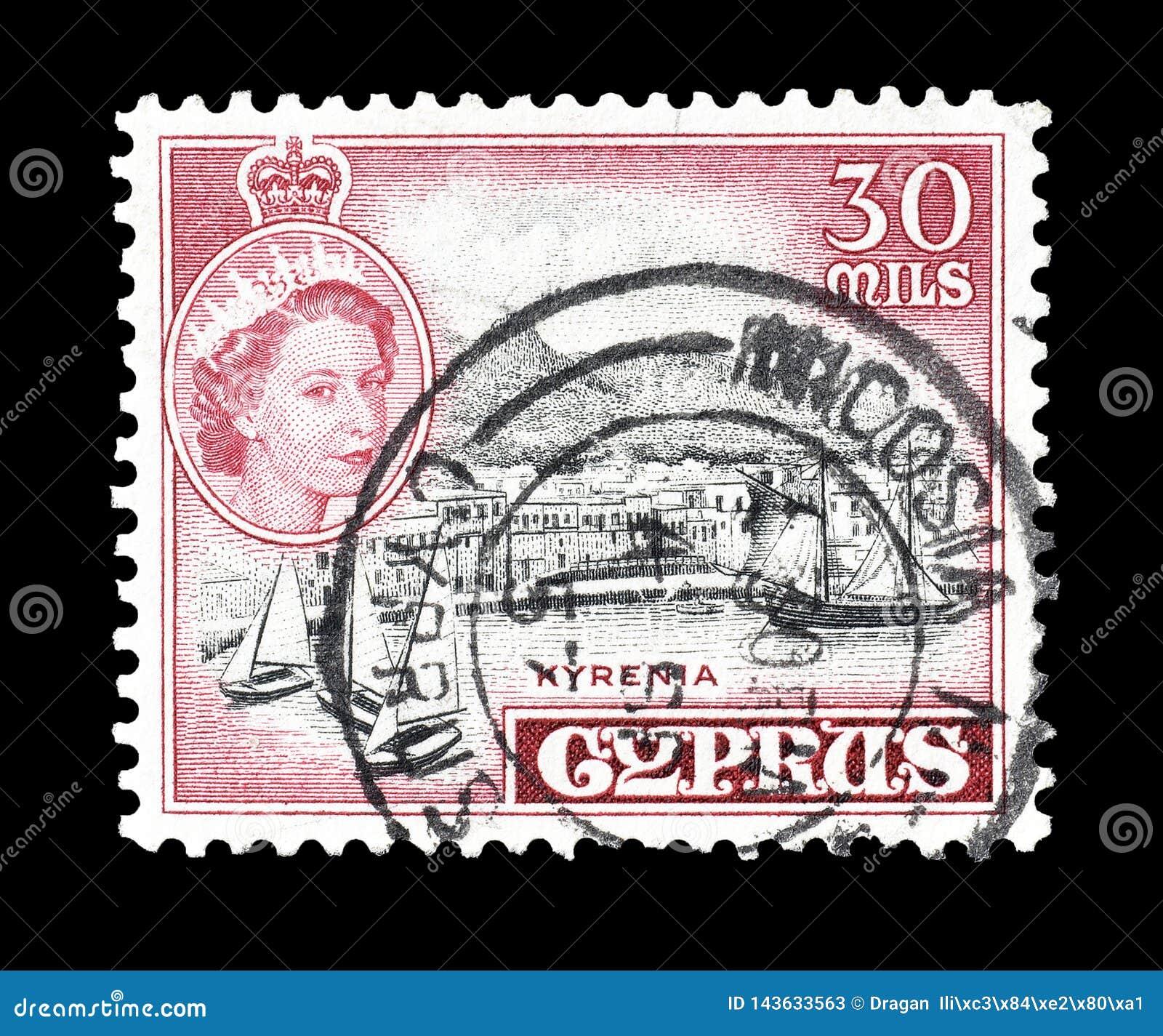 Odwoływający znaczek pocztowy drukujący Cypr