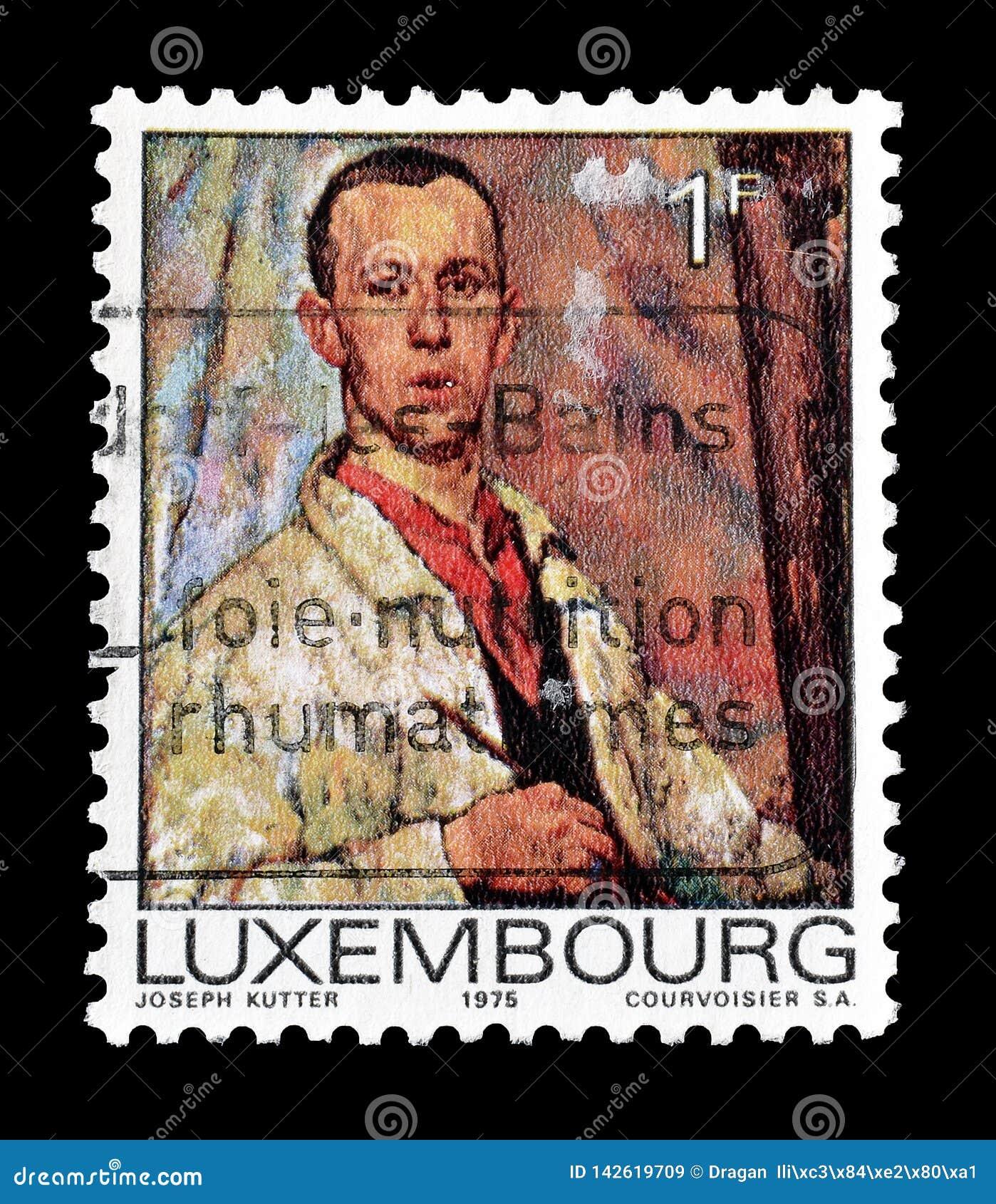 Odwoływający znaczek pocztowy drukujący Luksemburg