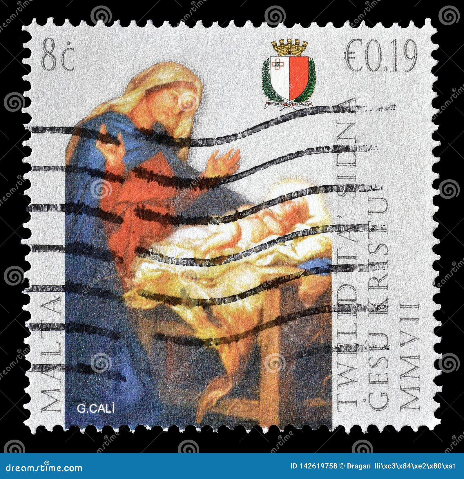 Odwoływający znaczek pocztowy drukujący Malta
