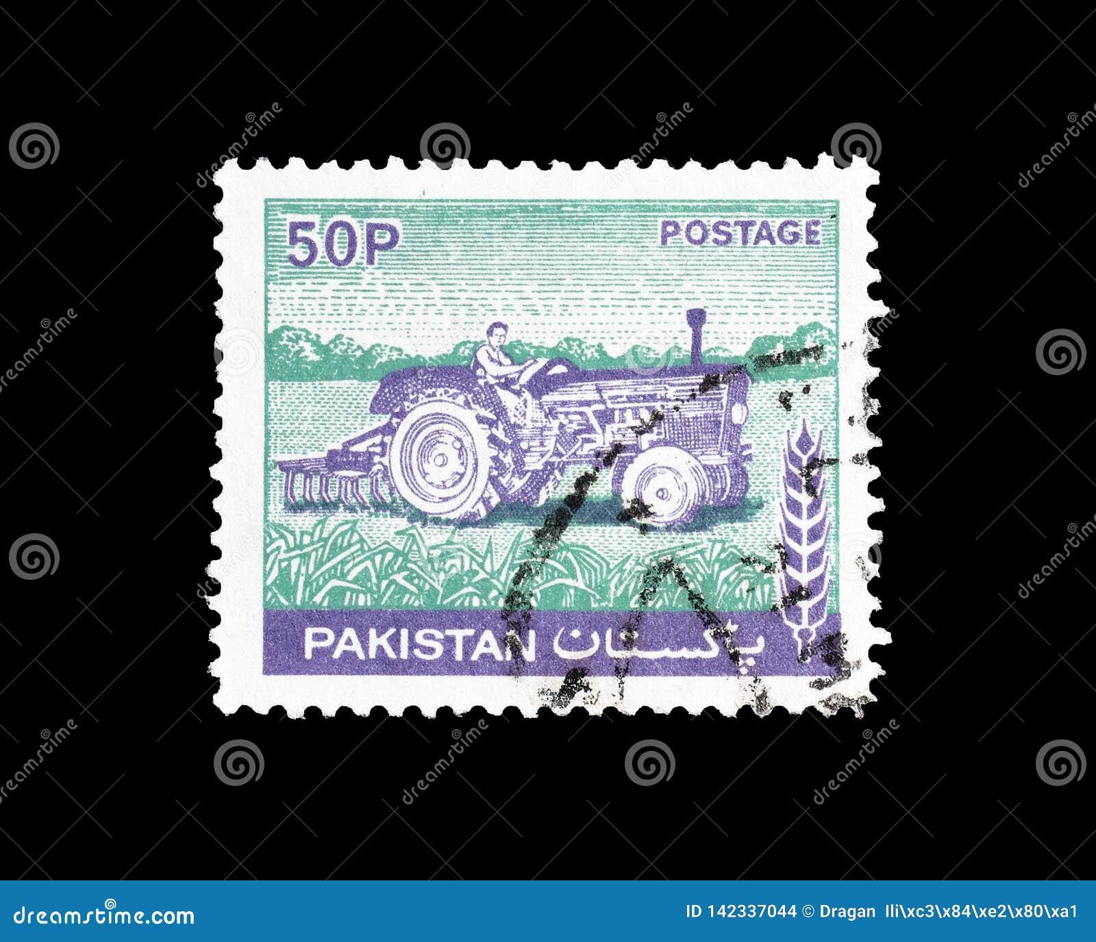 Odwoływający znaczek pocztowy drukujący Pakistan
