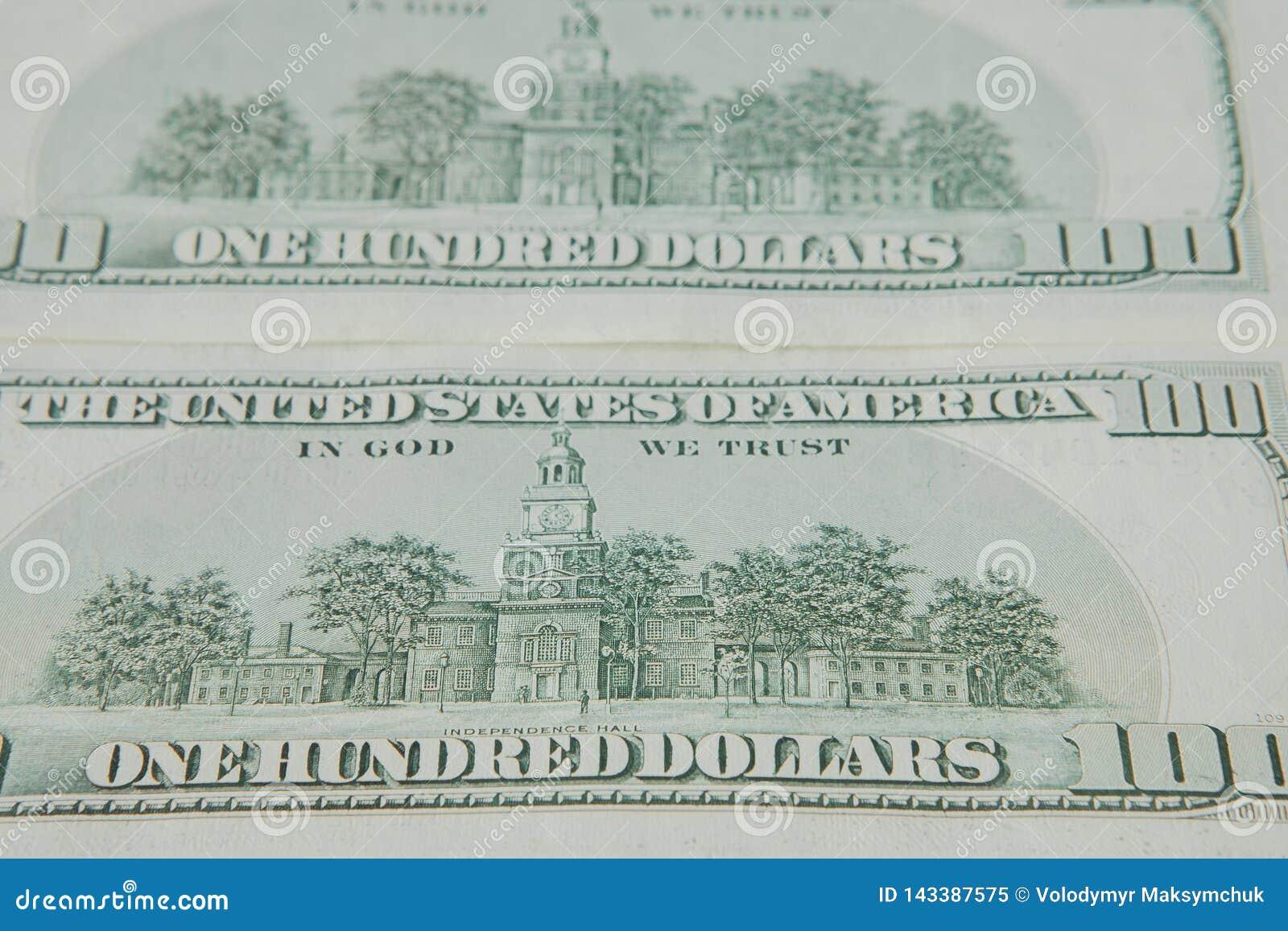 Odwrotna strona Amerykańscy dolary bill tła dolara