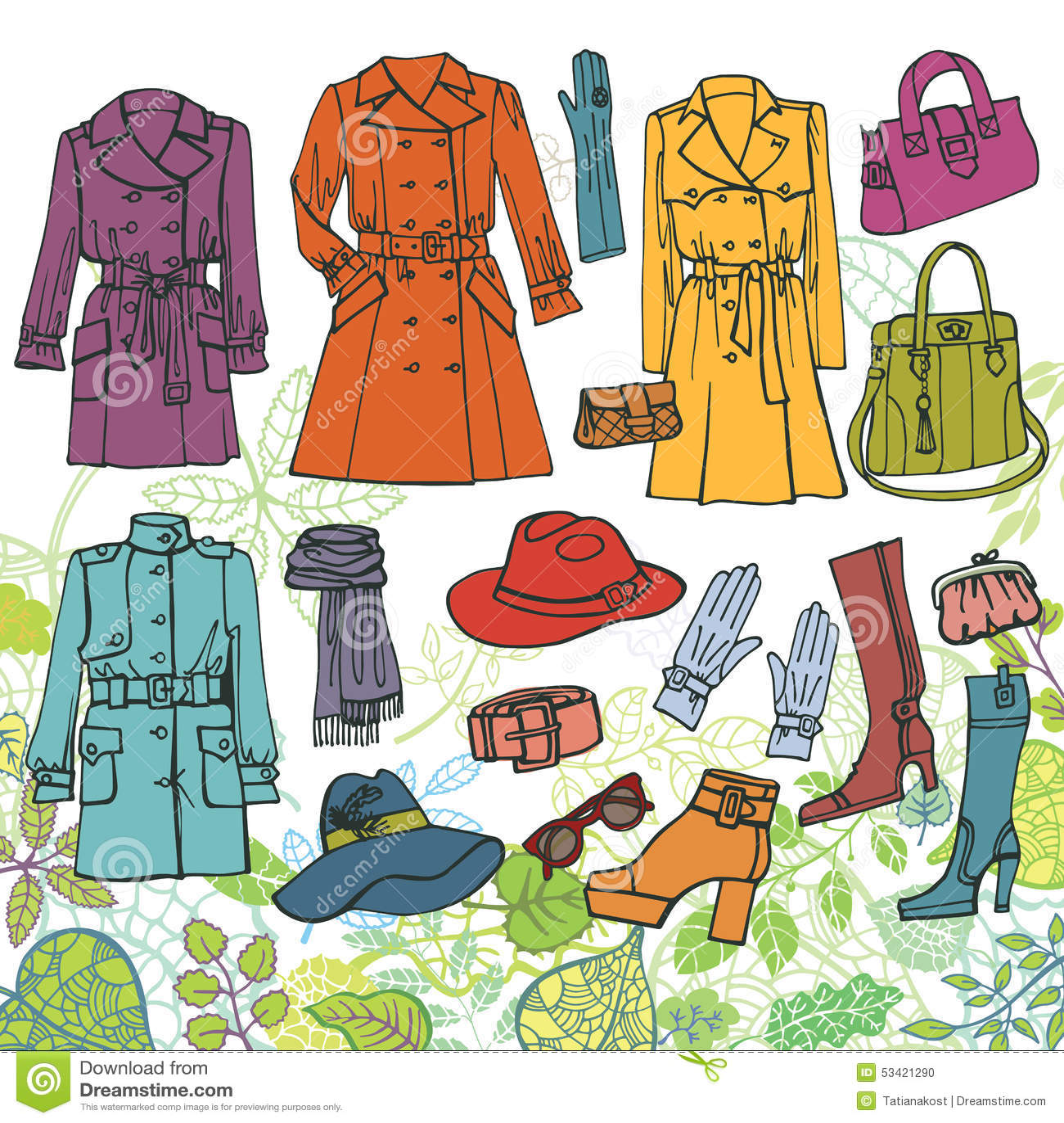 Odziewa moda set Wiosny kobiety odzież, zieleń