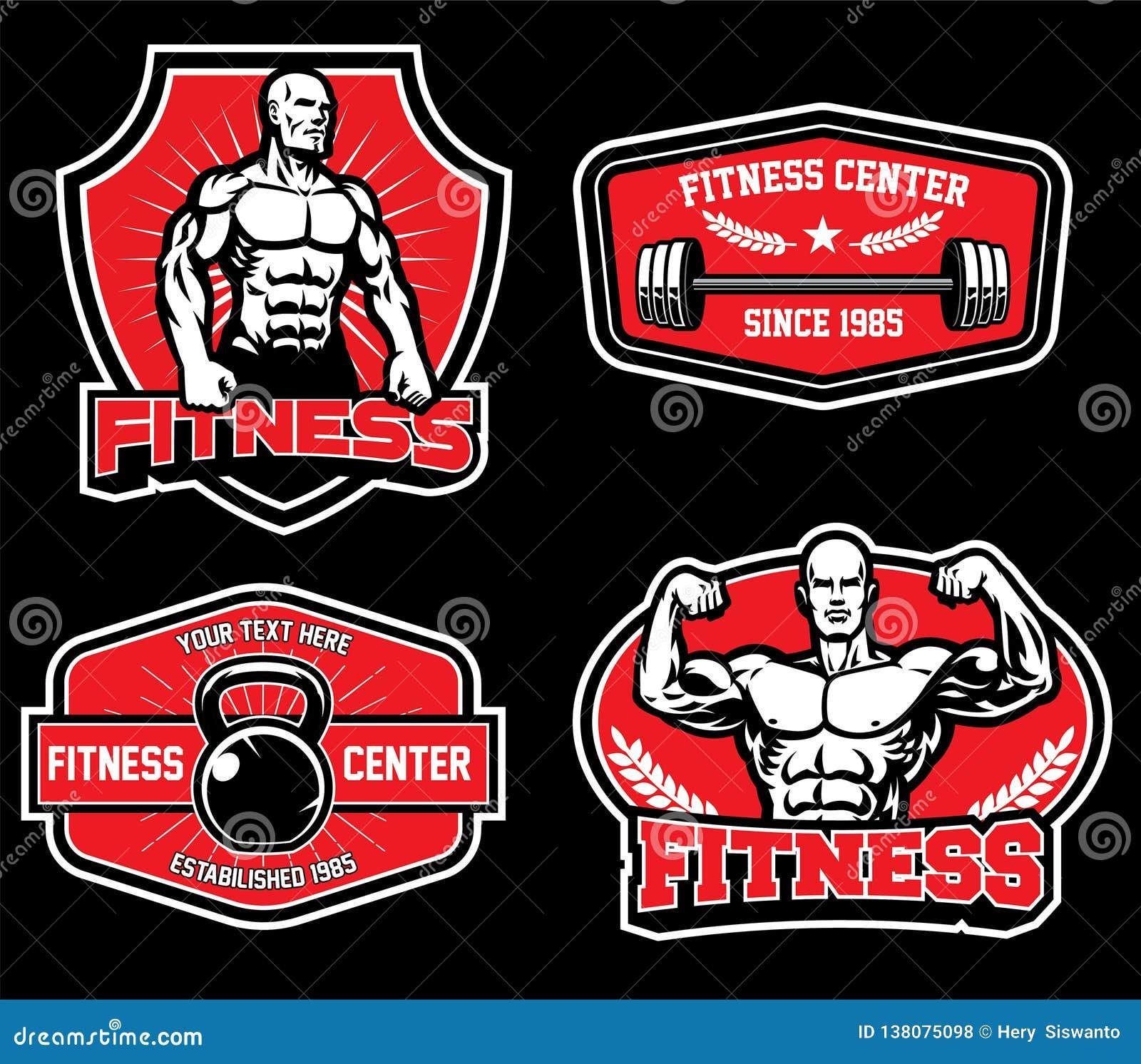 Odznaka projekt dla gym sprawności fizycznej