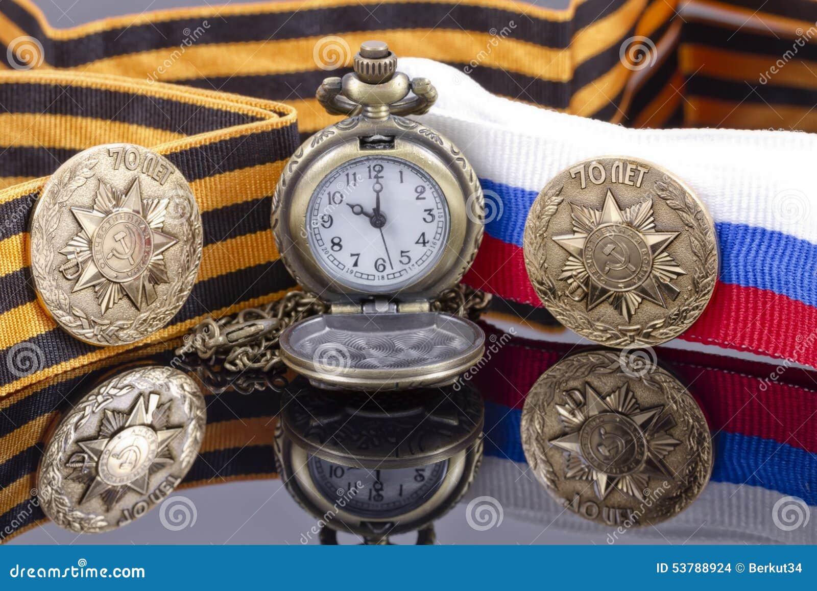 Odznaka uderzająca przy Petersburg mennicą dla zwycięstwo dnia i po