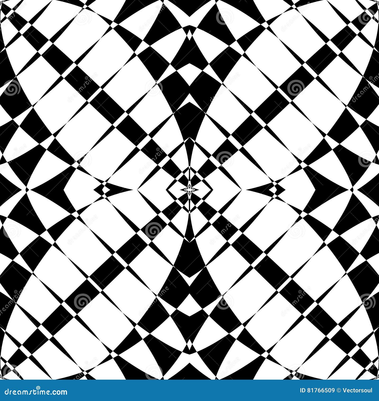 Odzwierciedlający symetryczny wzór Geometryczny monochromatyczny tło T