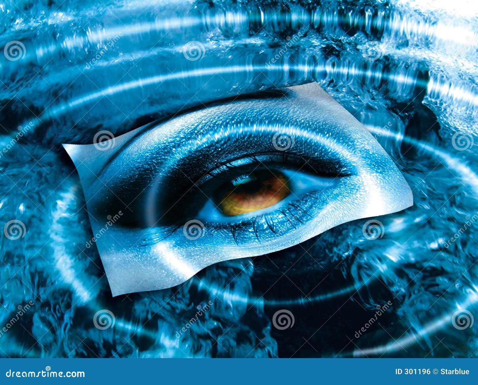 Oeil au-dessus de bleu