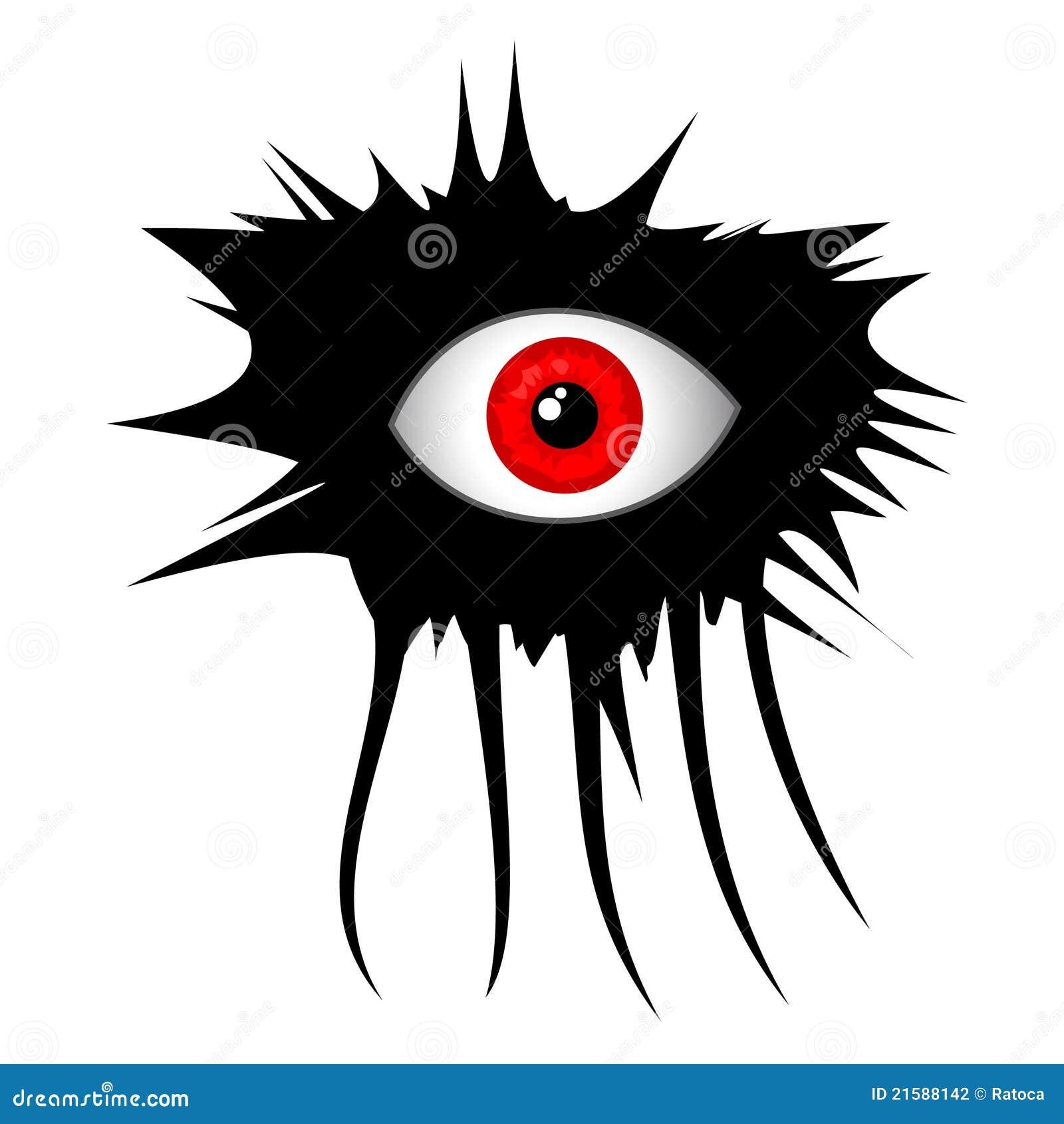 Oeil d 39 horreur illustration de vecteur illustration du - Dessin horreur ...