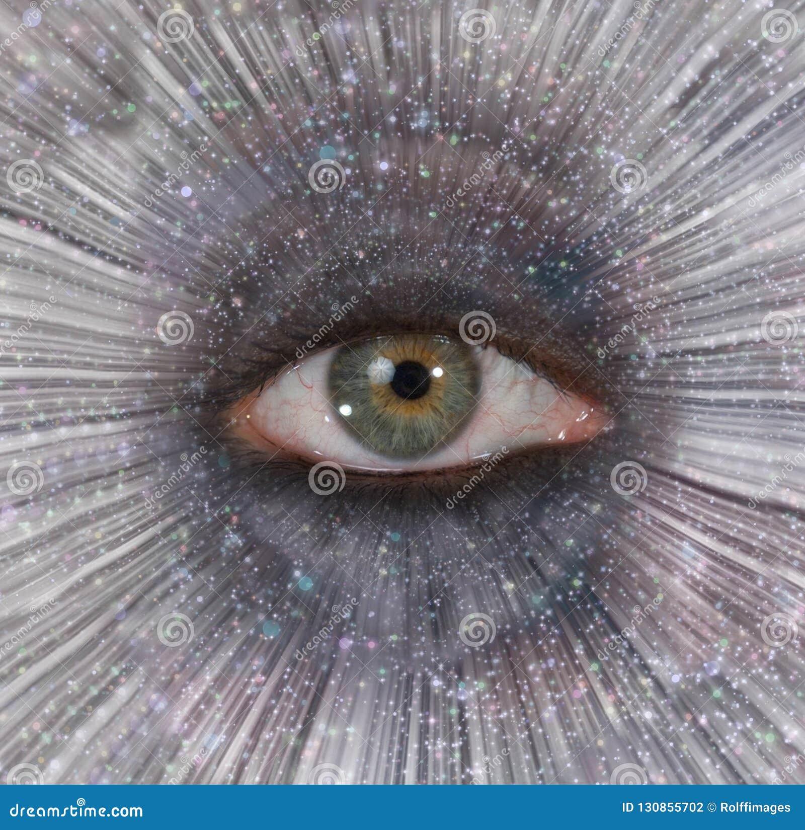 Oeil dans l éclat d étoile