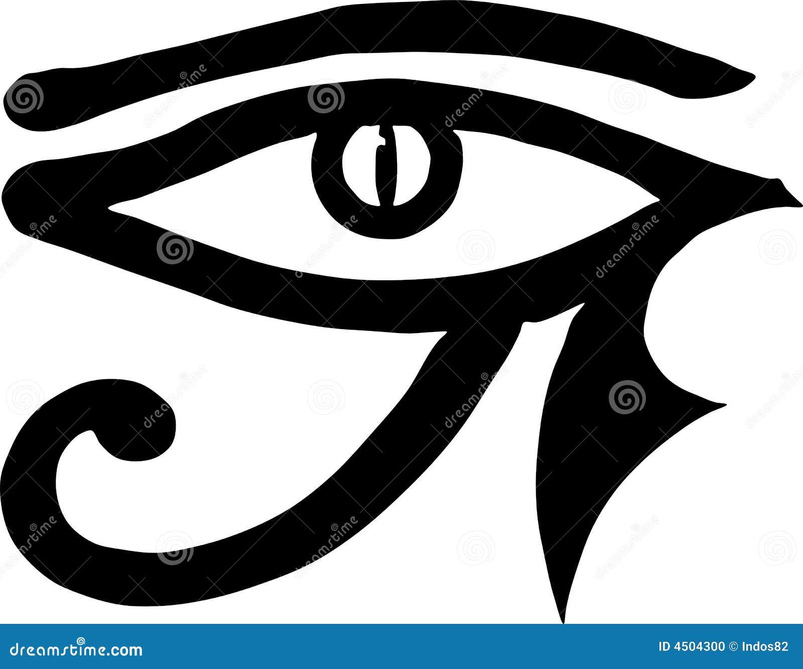 Oeil de symbole d 39 egyptien de horus photo stock image - Symbole de protection ...