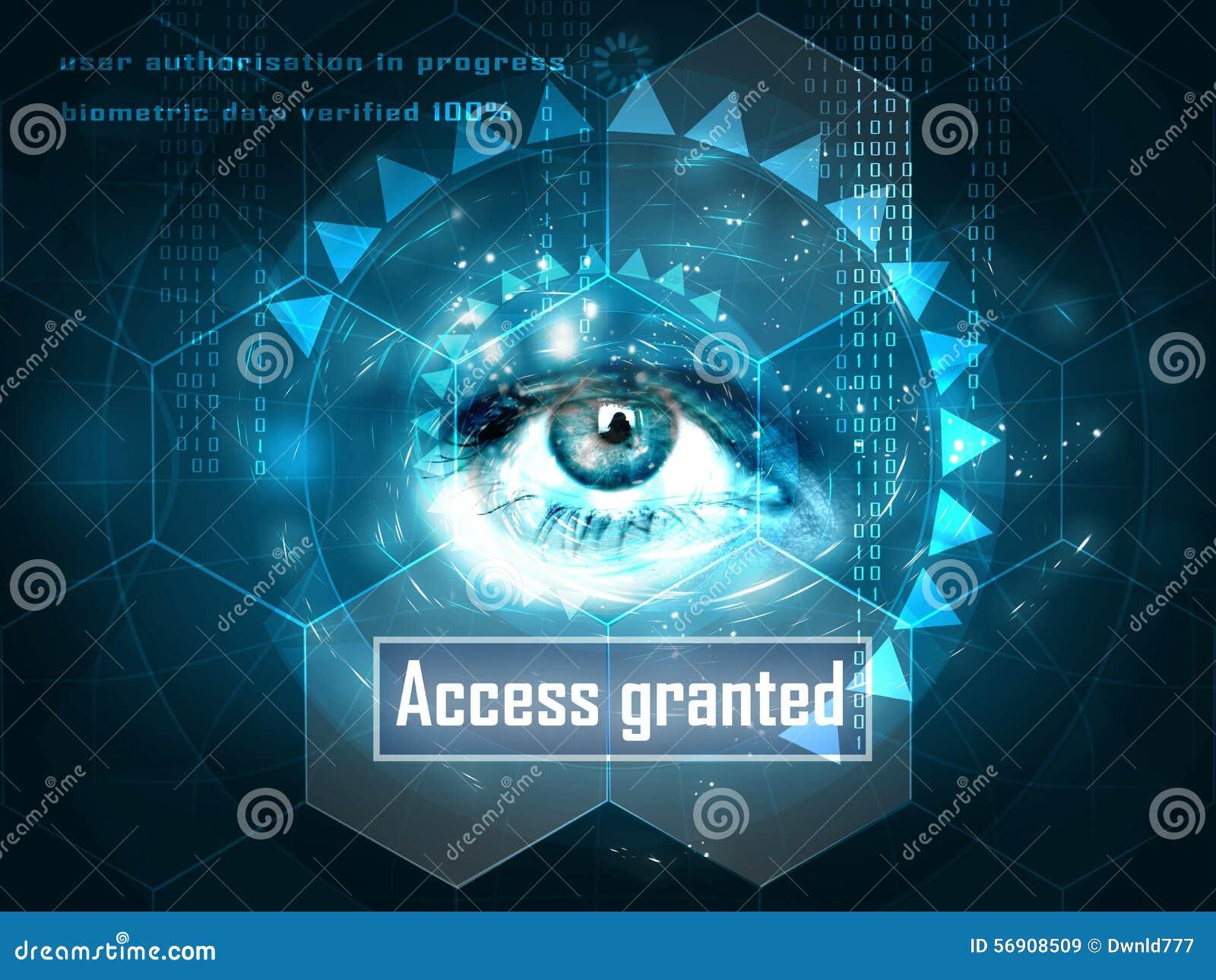 Oeil humain futuriste