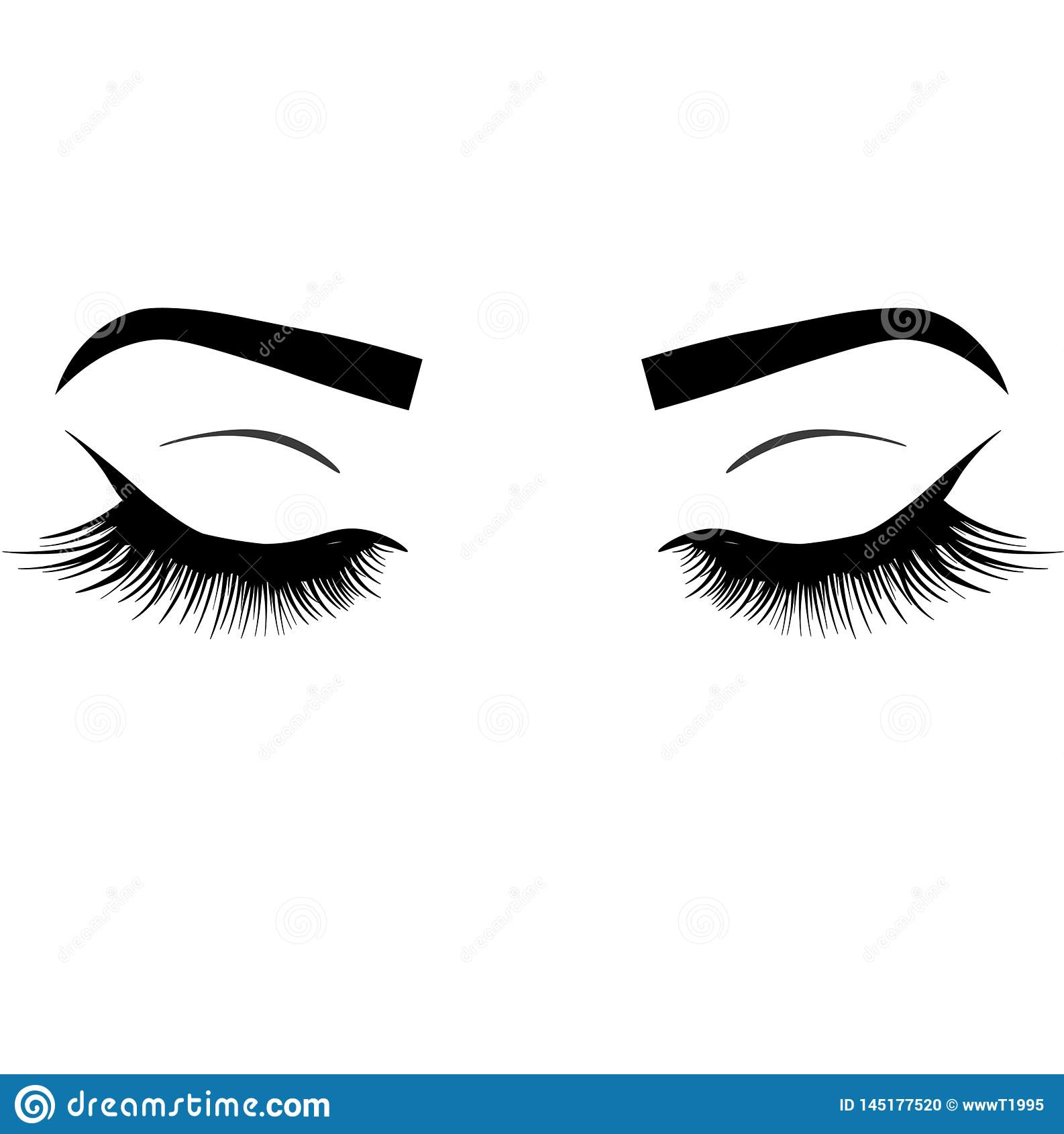 Oeil luxueux clignotant sexy de Web avec les sourcils parfaitement formés et les pleines mèches Id?e pour la carte de visite d af