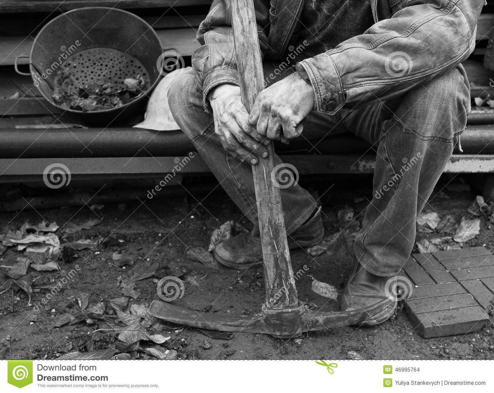 Oekraïense mijnwerker